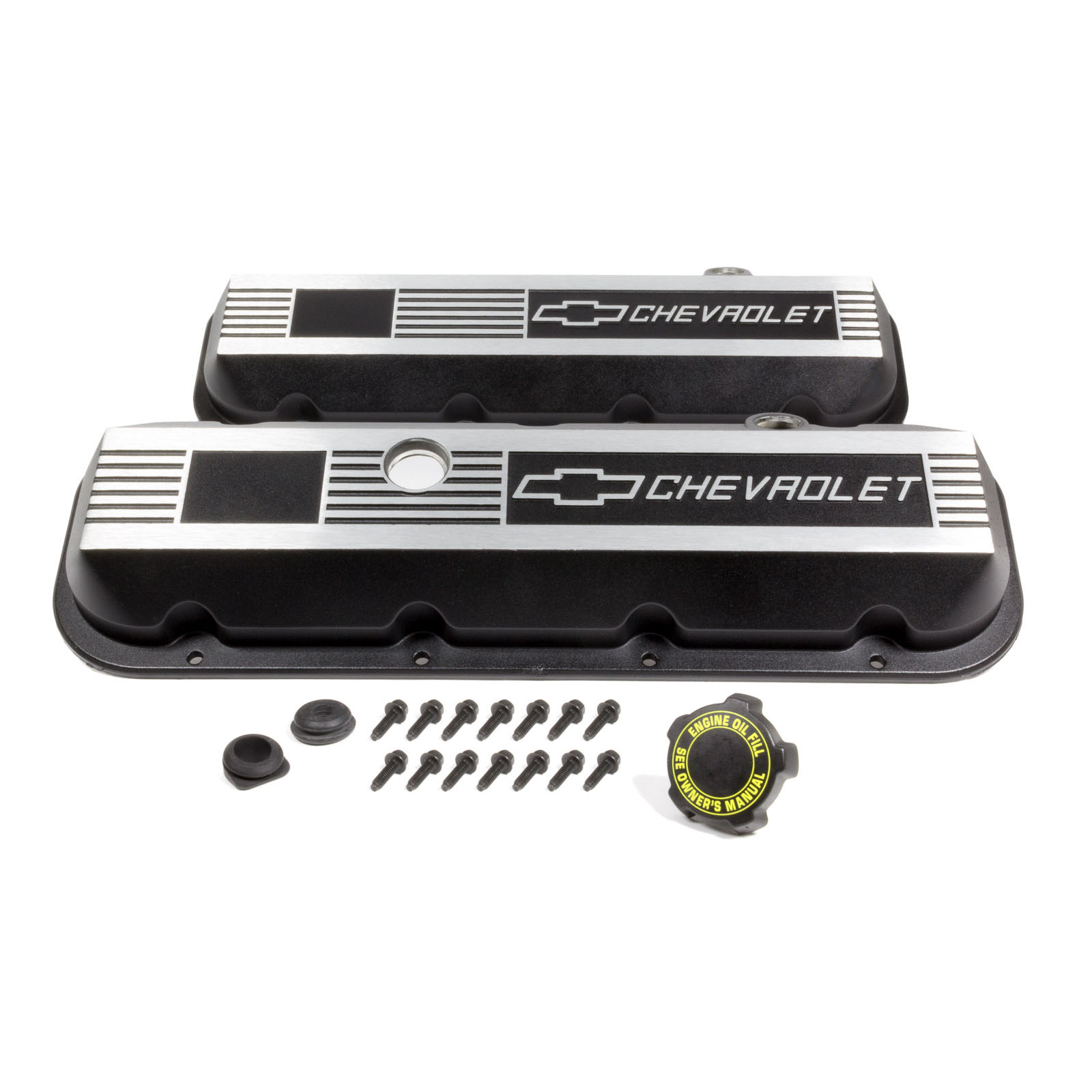 GM PERFORMANCE PARTS 12495488 Aluminum Valve Covers - BBC- Short
