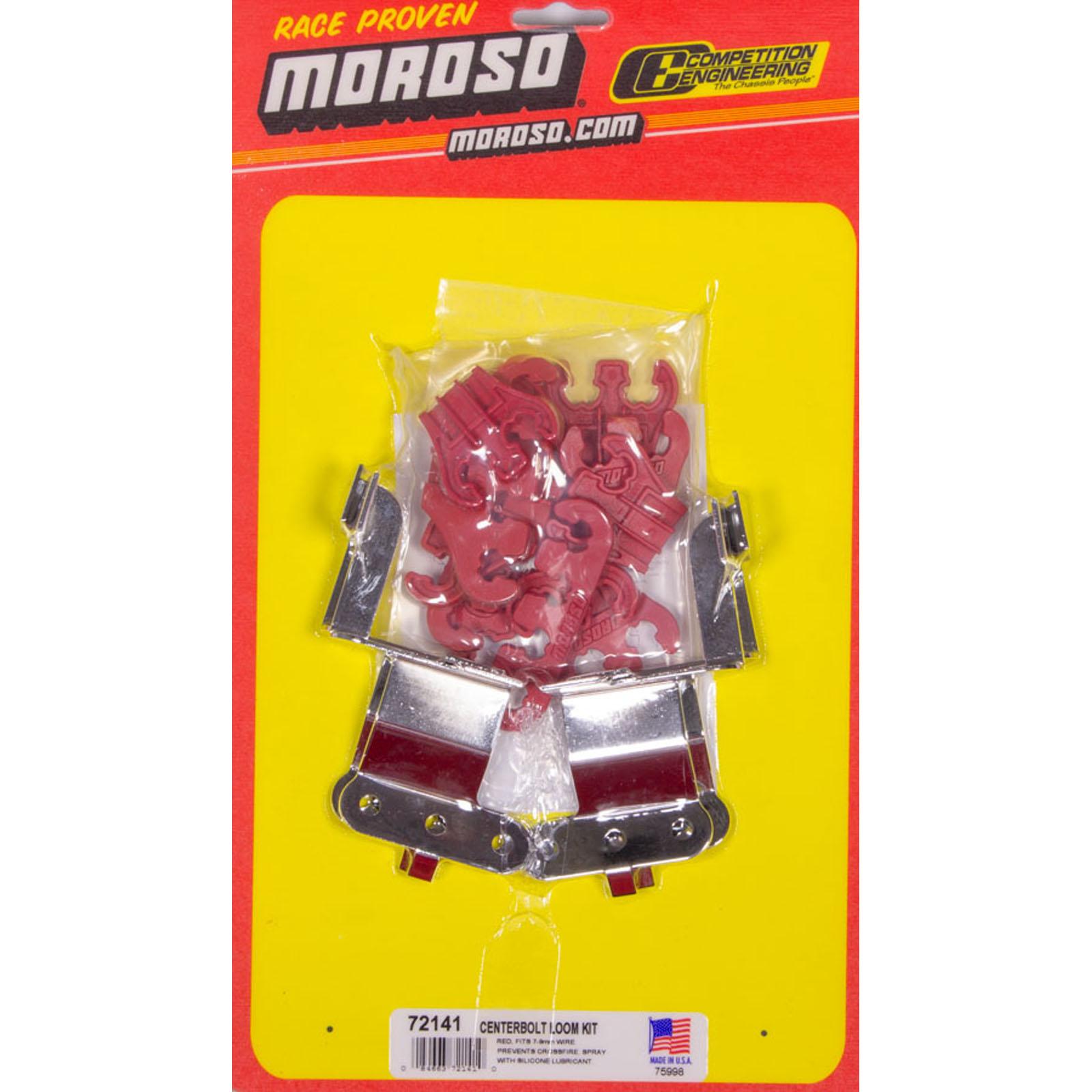 MOROSO 72141 Red Wire Loom Kit For SBC Center Bolt V/C 84663721410 ...