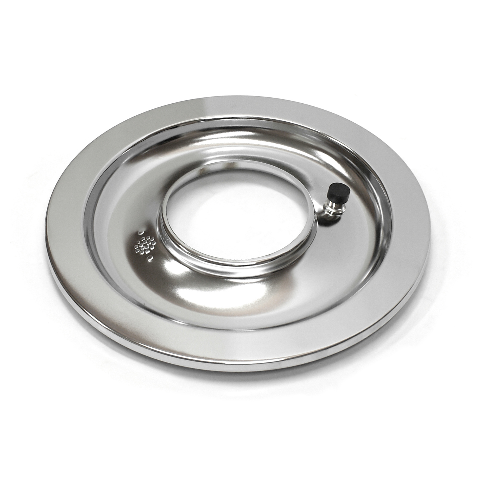 "14"" Chrome Flat Air Cleaner Base"