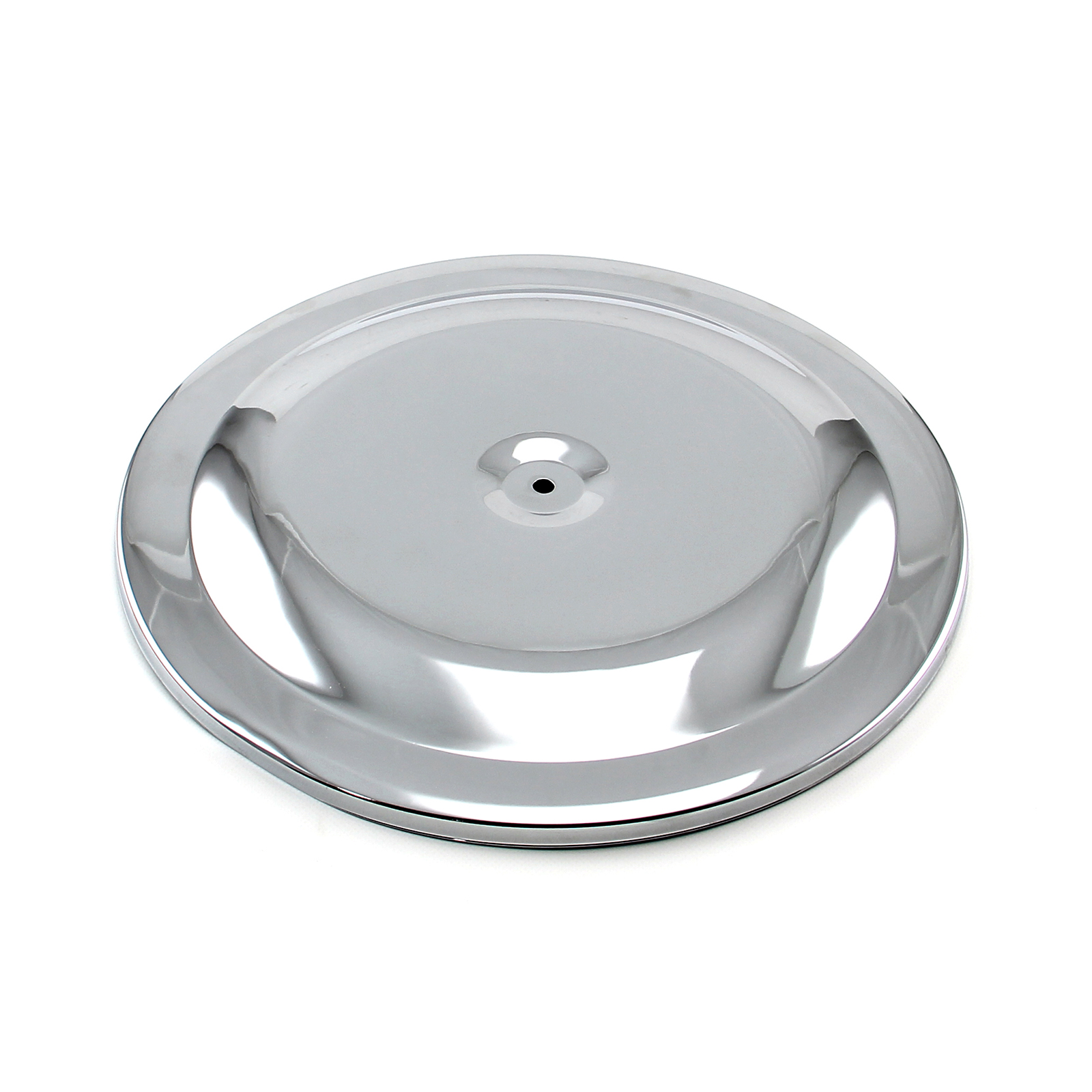"14"" Chrome Round Race Style Air Cleaner Top - Chrome"