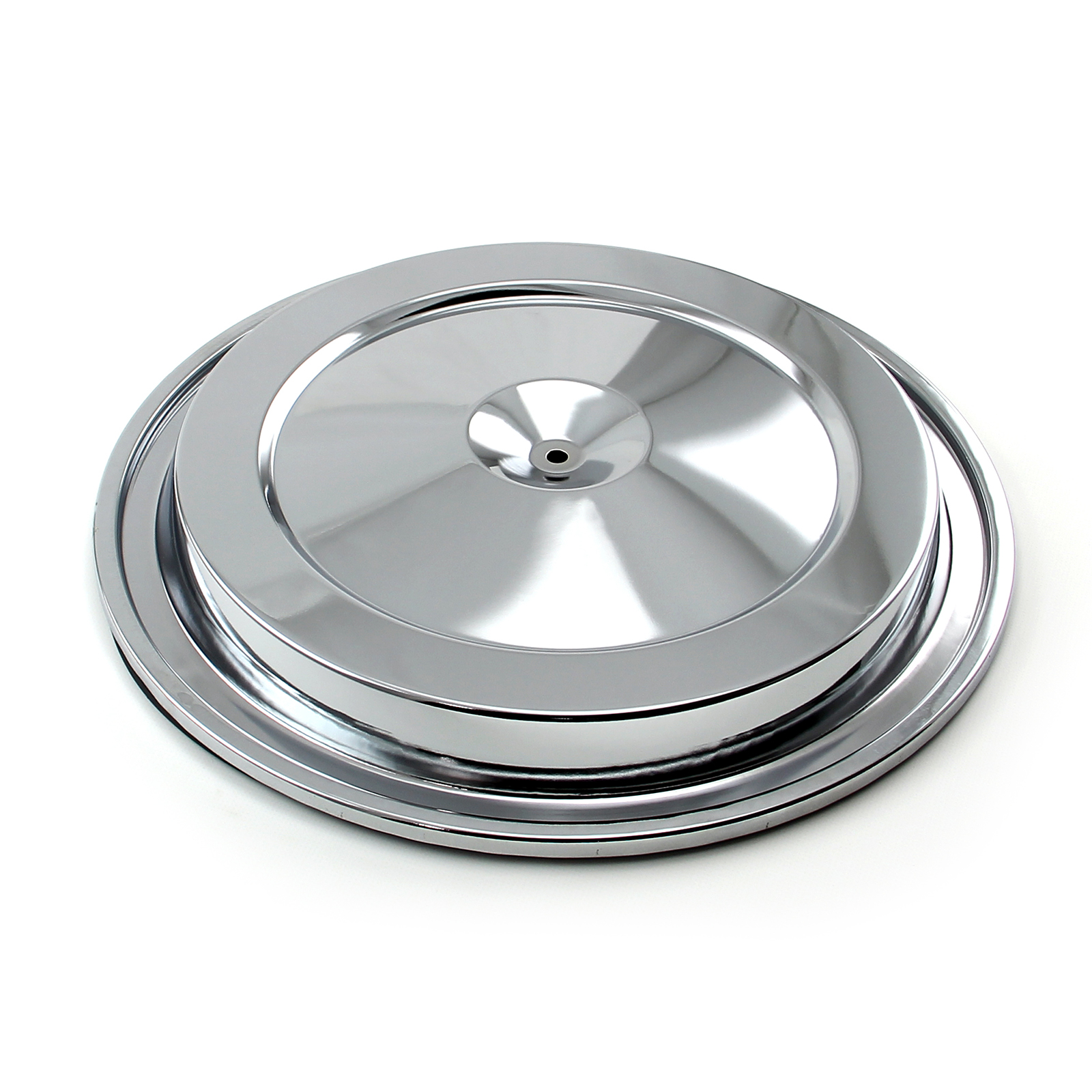"15"" (15.375"") Round Air Cleaner Top - Chrome"