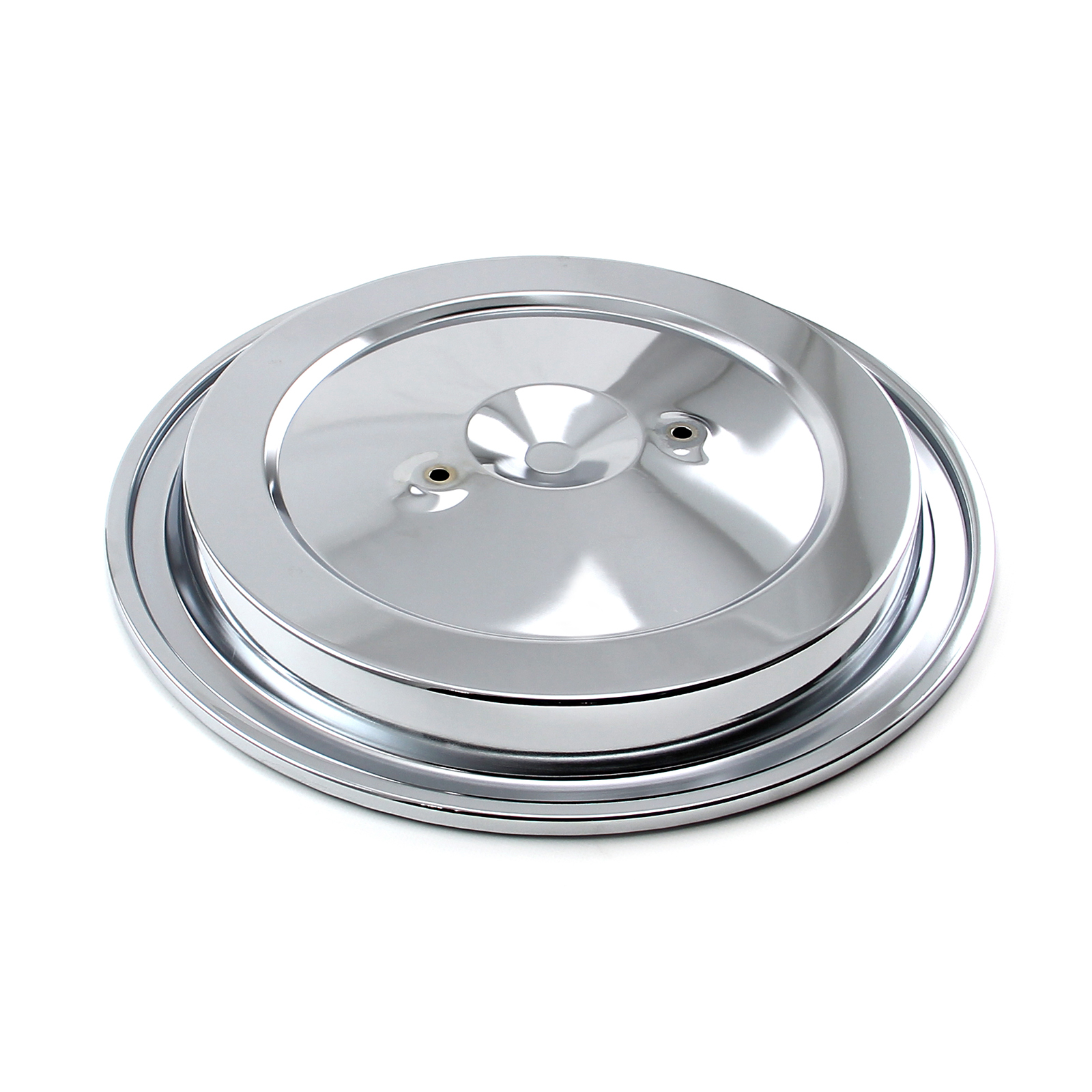 "15"" (15.375"") Chrome Dual Wing Nut Air Cleaner Top"