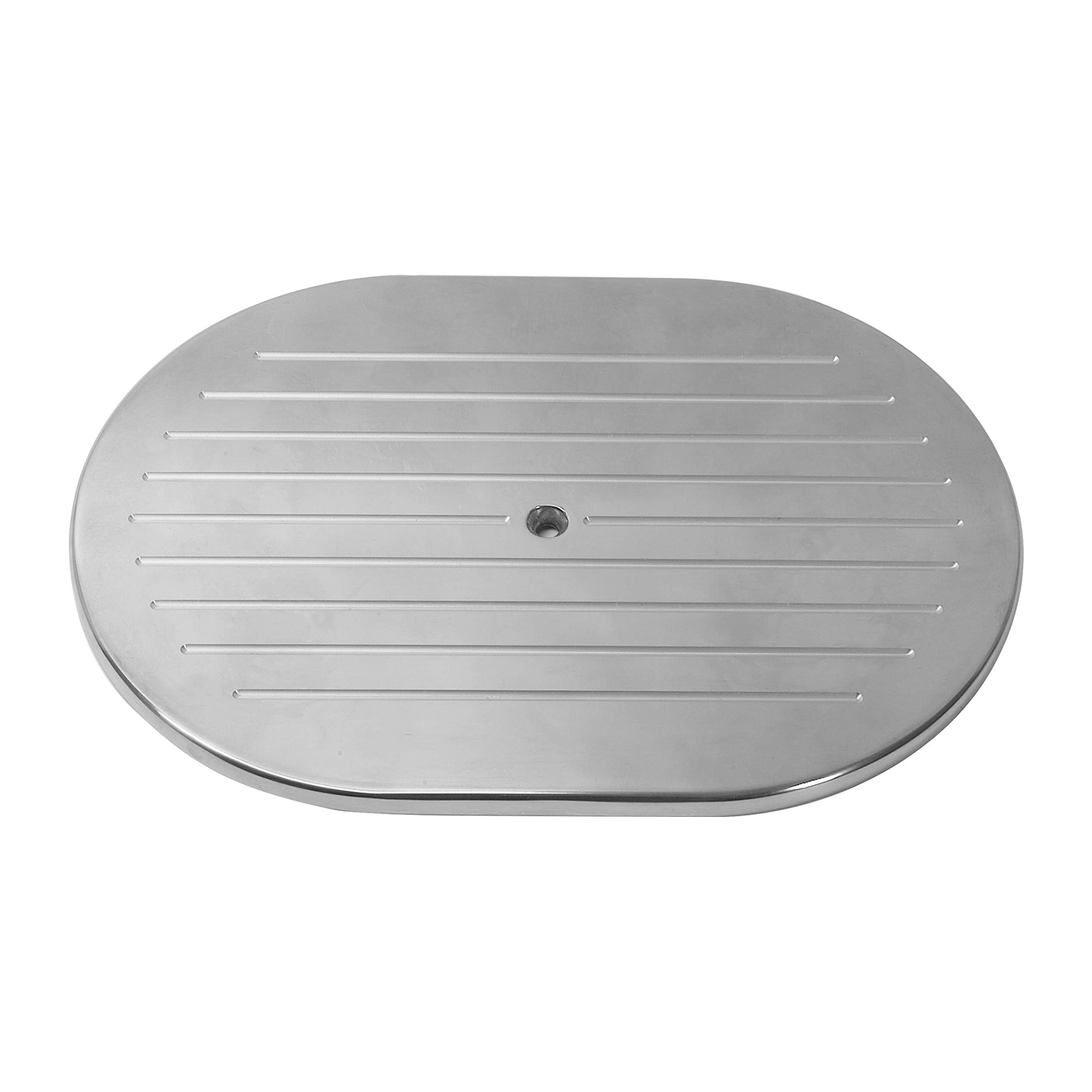 "12"" Aluminum Oval Ball Milled Air Cleaner Top"