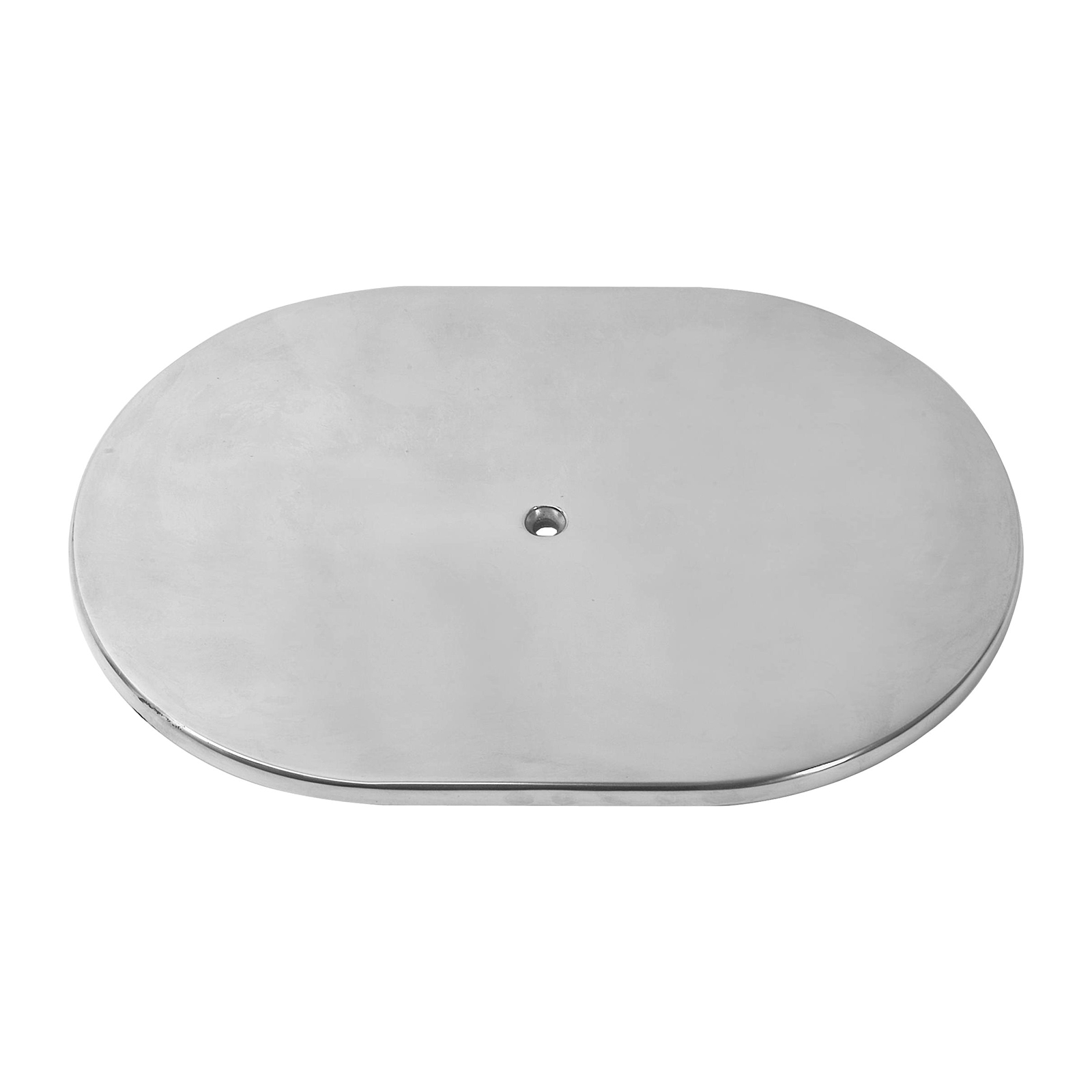 """12"""" Aluminum Oval Plain Air Cleaner Top - Polished"""