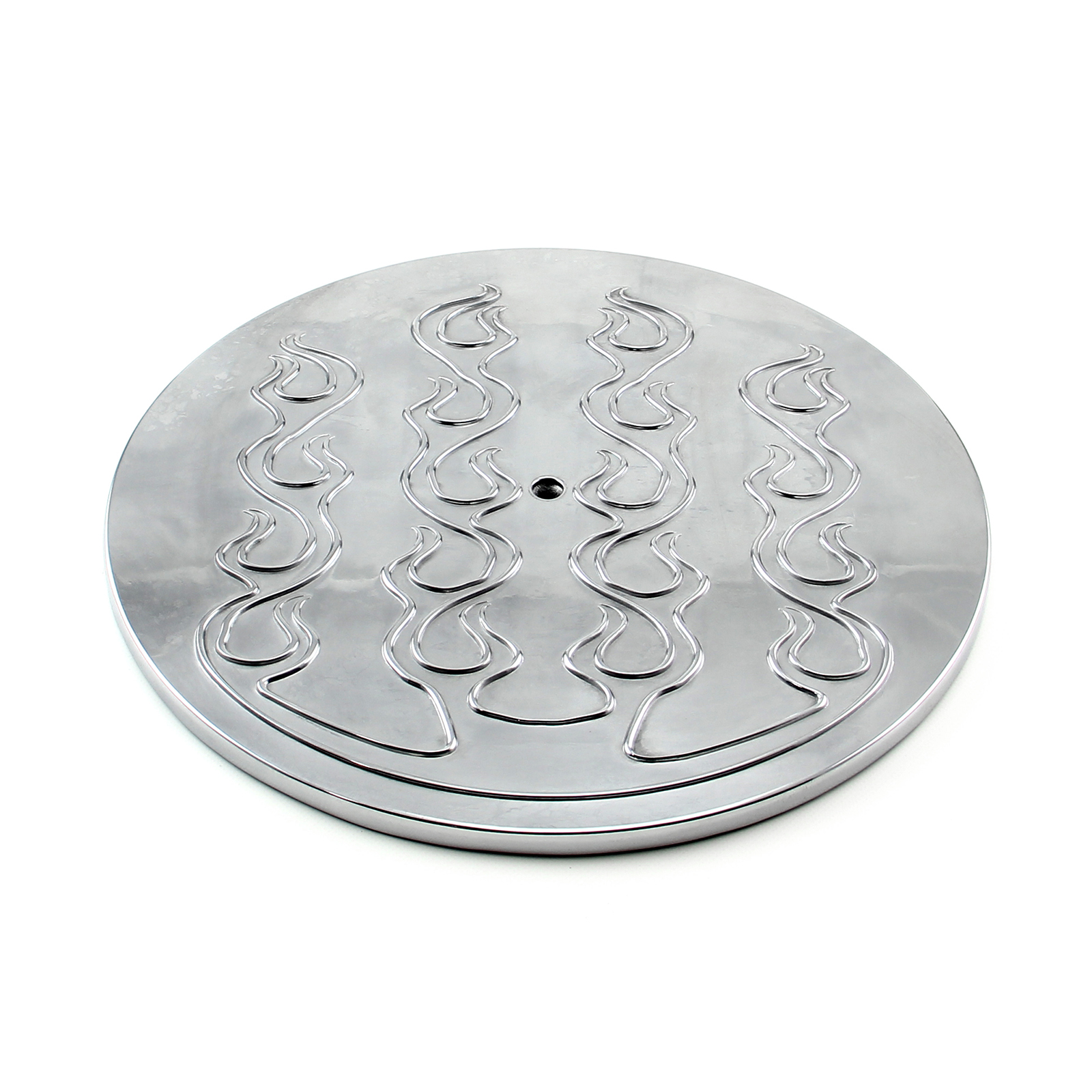 "14"" Aluminum Round Flamed Air Cleaner Top - Polished"