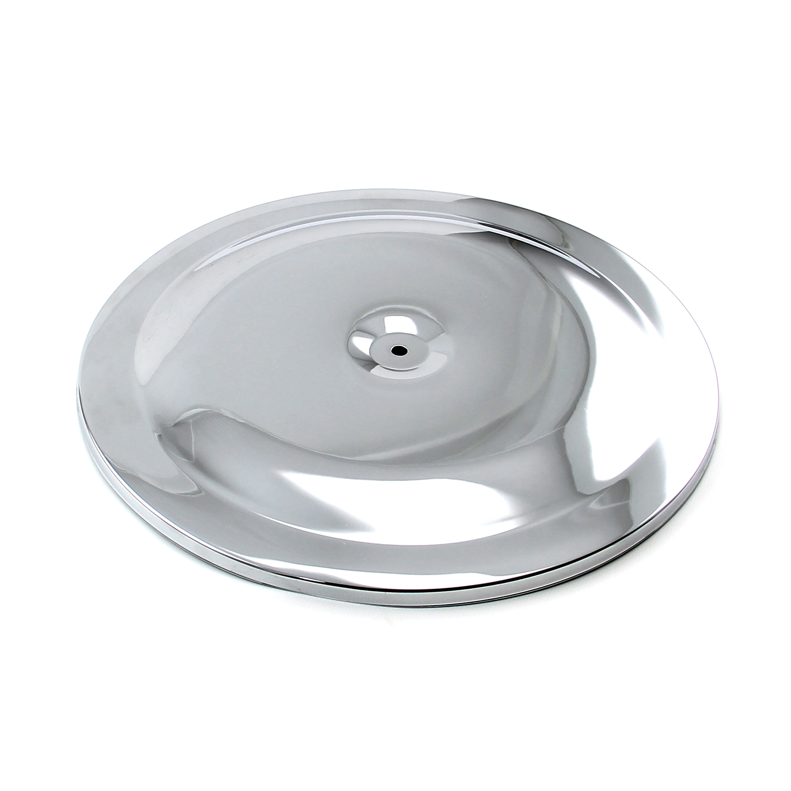 "14"" Aluminum Round Race Style Air Cleaner Top - Polished"