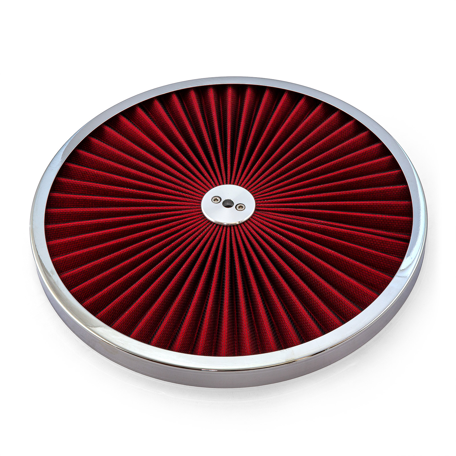 "14"" Extreme Style w/ Chrome Outer Ring Washable Air Cleaner Top"