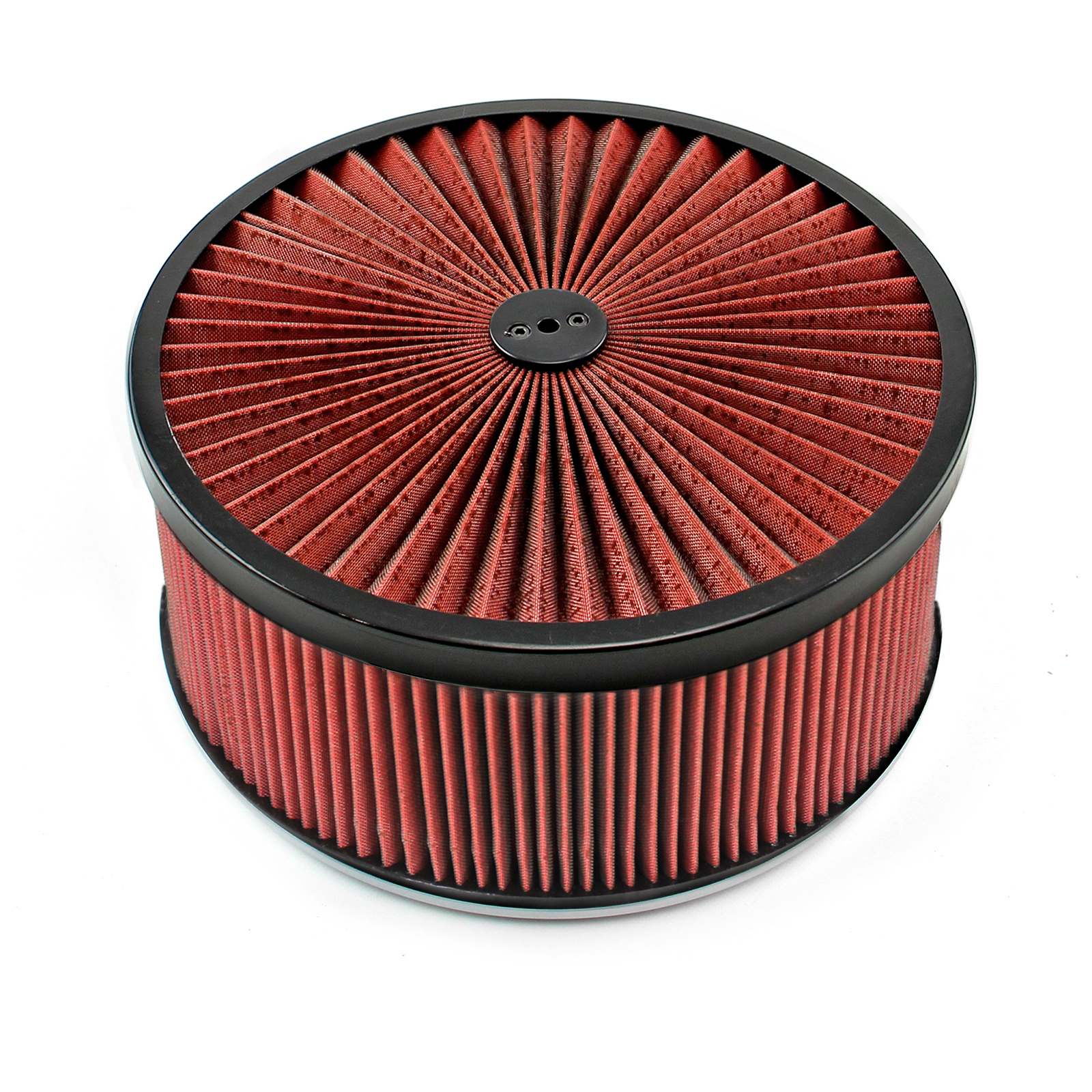 """14"""" x 6"""" Washable Element Extreme Top w/Black Ring Flat Base Air Cleaner Kit"""