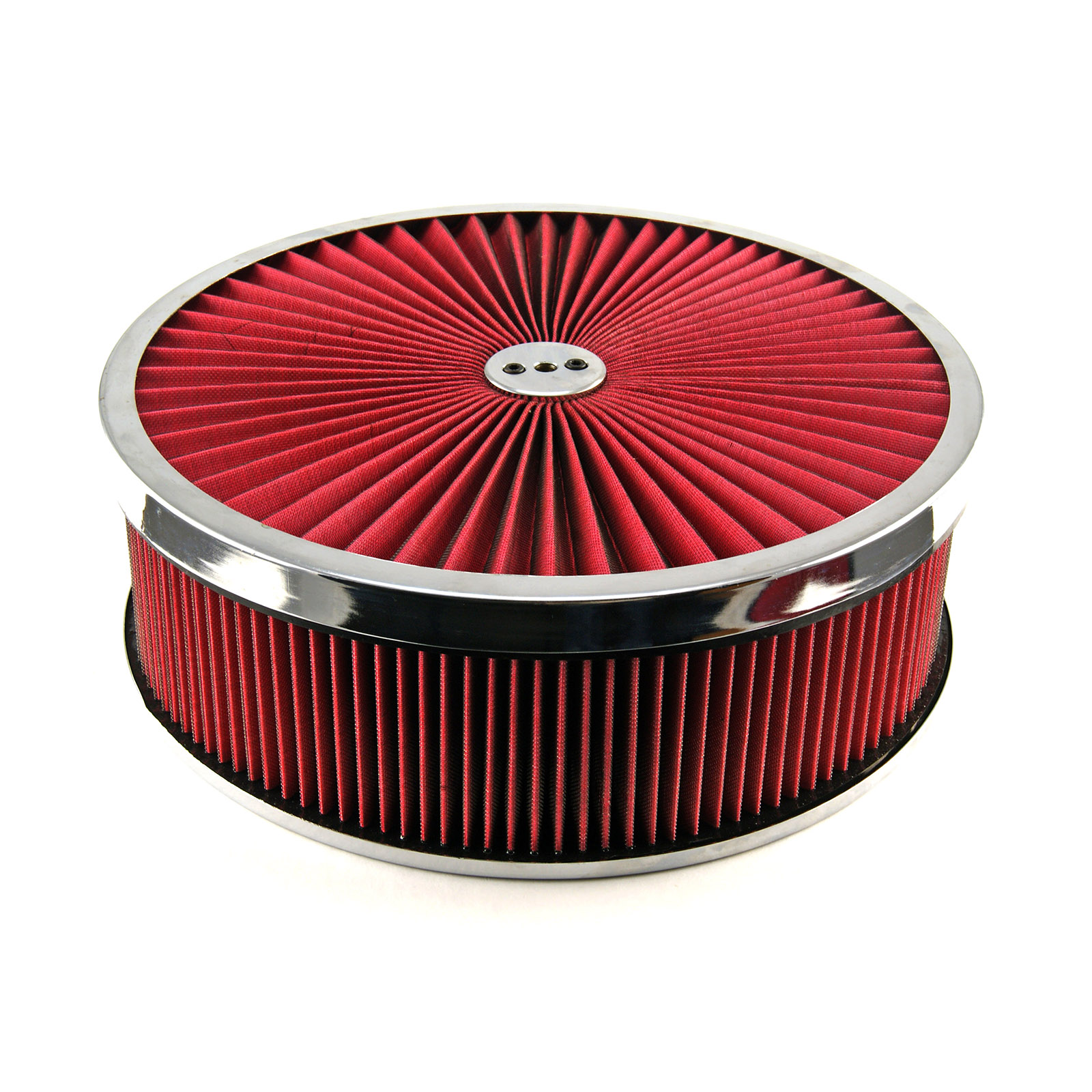 """14"""" x 4"""" Washable Element Extreme Top w/Chrome Ring Flat Base Air Cleaner Kit"""