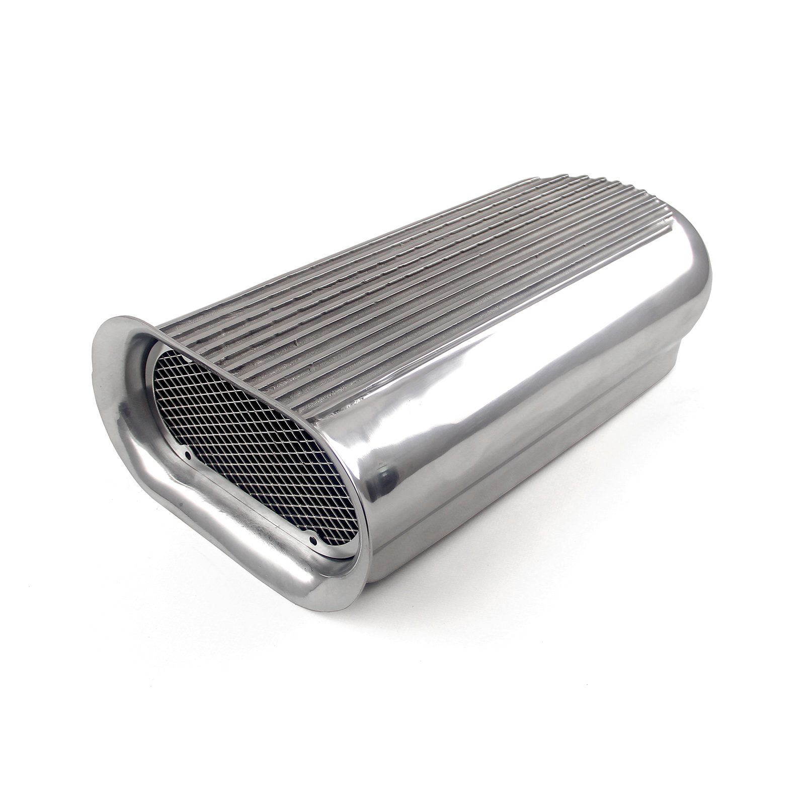 Polished Aluminum Dual Carburetor Hilborn Style Hood Scoop