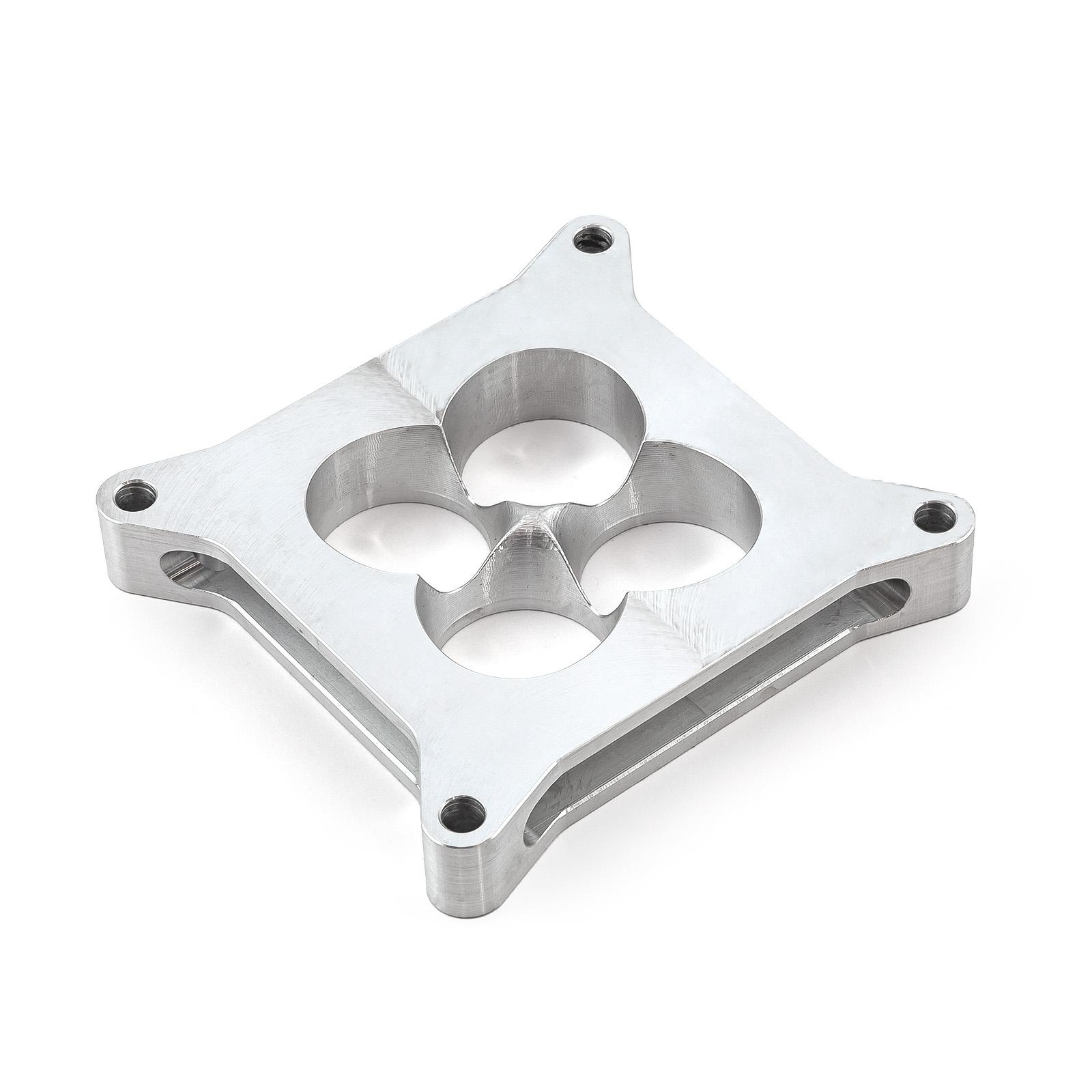 """1"""" Aluminum 4150 CNC Machined Carburetor Spacer Square Bore 4 Port"""