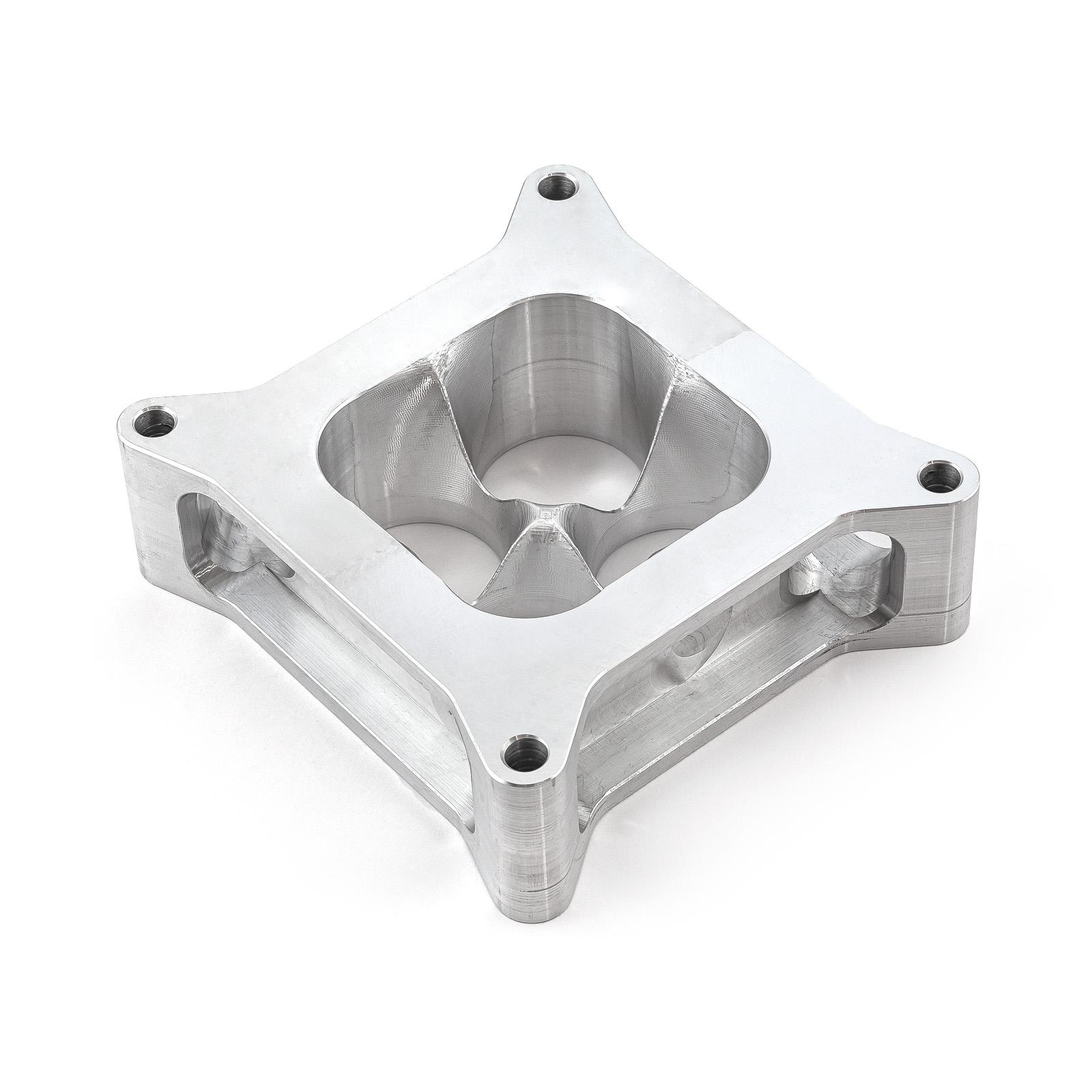 """2"""" Aluminum 4150 CNC Machined Carburetor Spacer Square Bore 4 Port"""