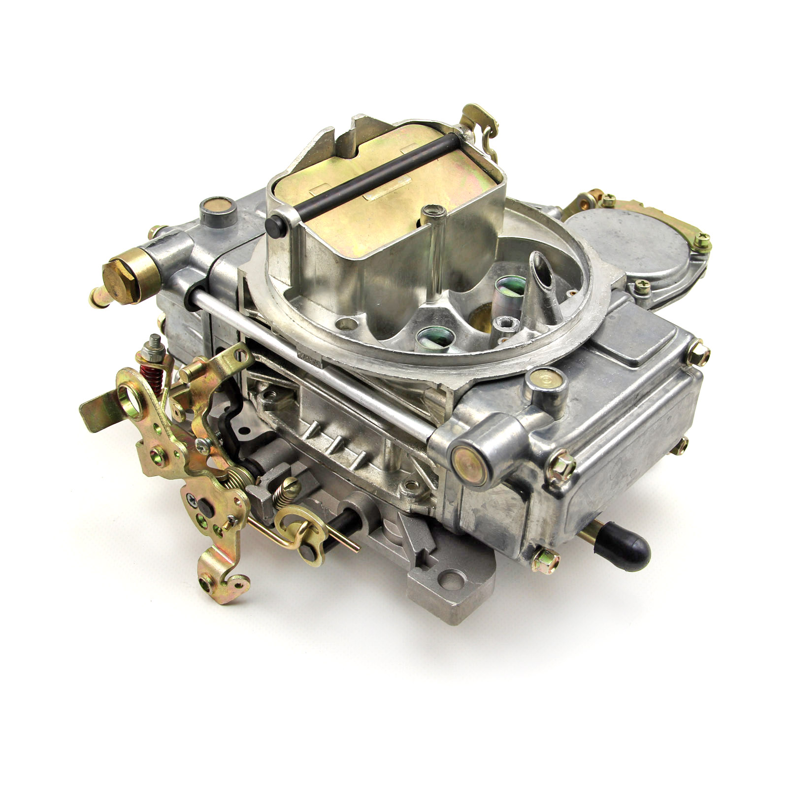 610 CFM Natural Finish 4-Bbl Vacuum Secondary Carburetor Built in USA