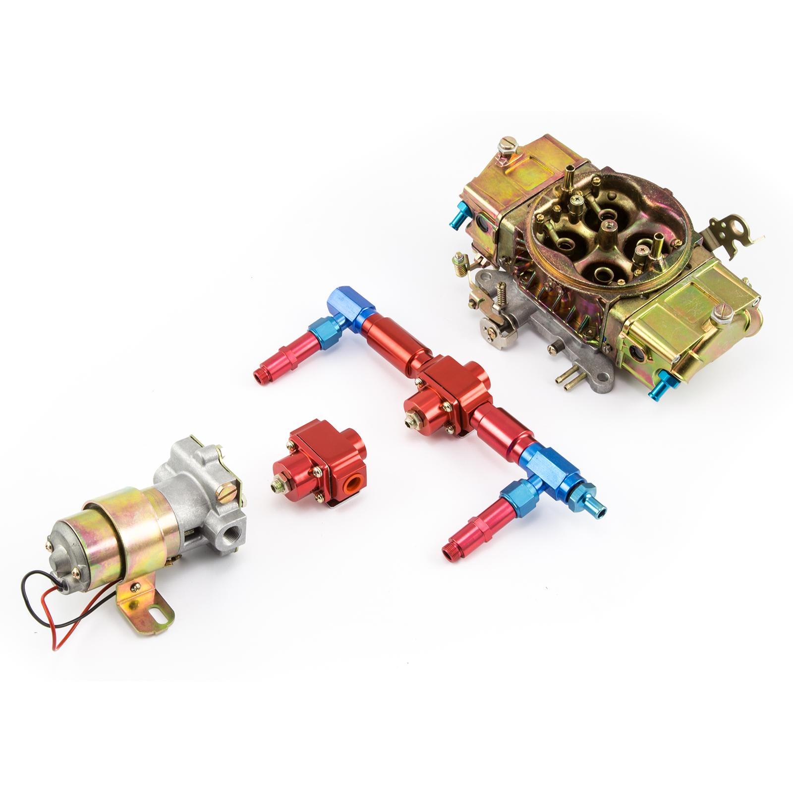 750 CFM Full Zinc 4-Bbl Mechanical Secondary Carburetor & Fuel Pump Combo