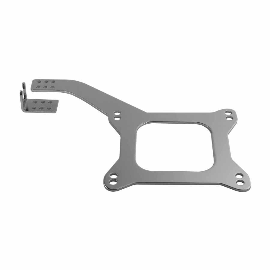Carburetor Linkage Mounting Plate - Chrome