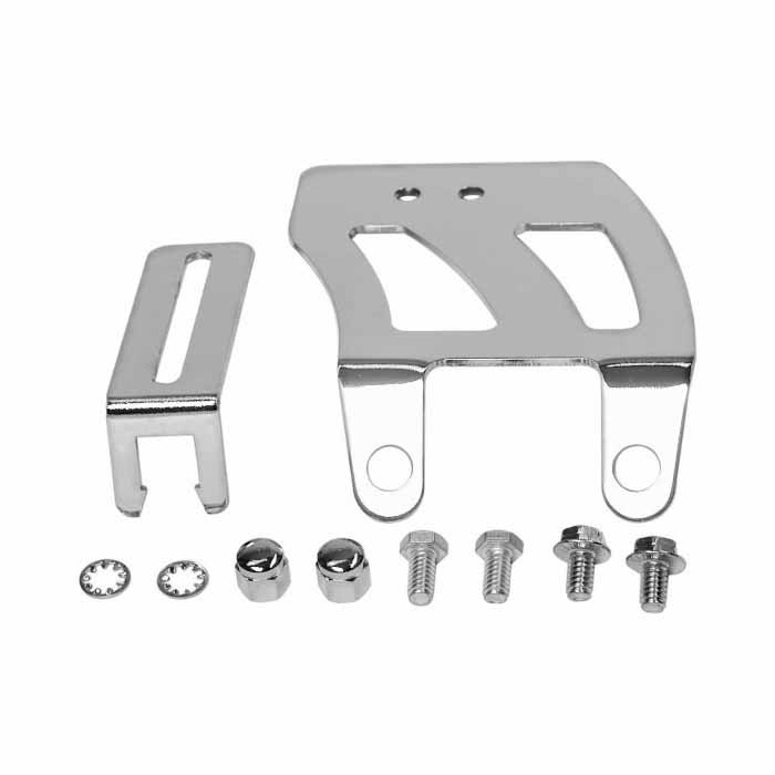 Chevy SBC 350 Chrome Carburetor Throttle Cable Bracket