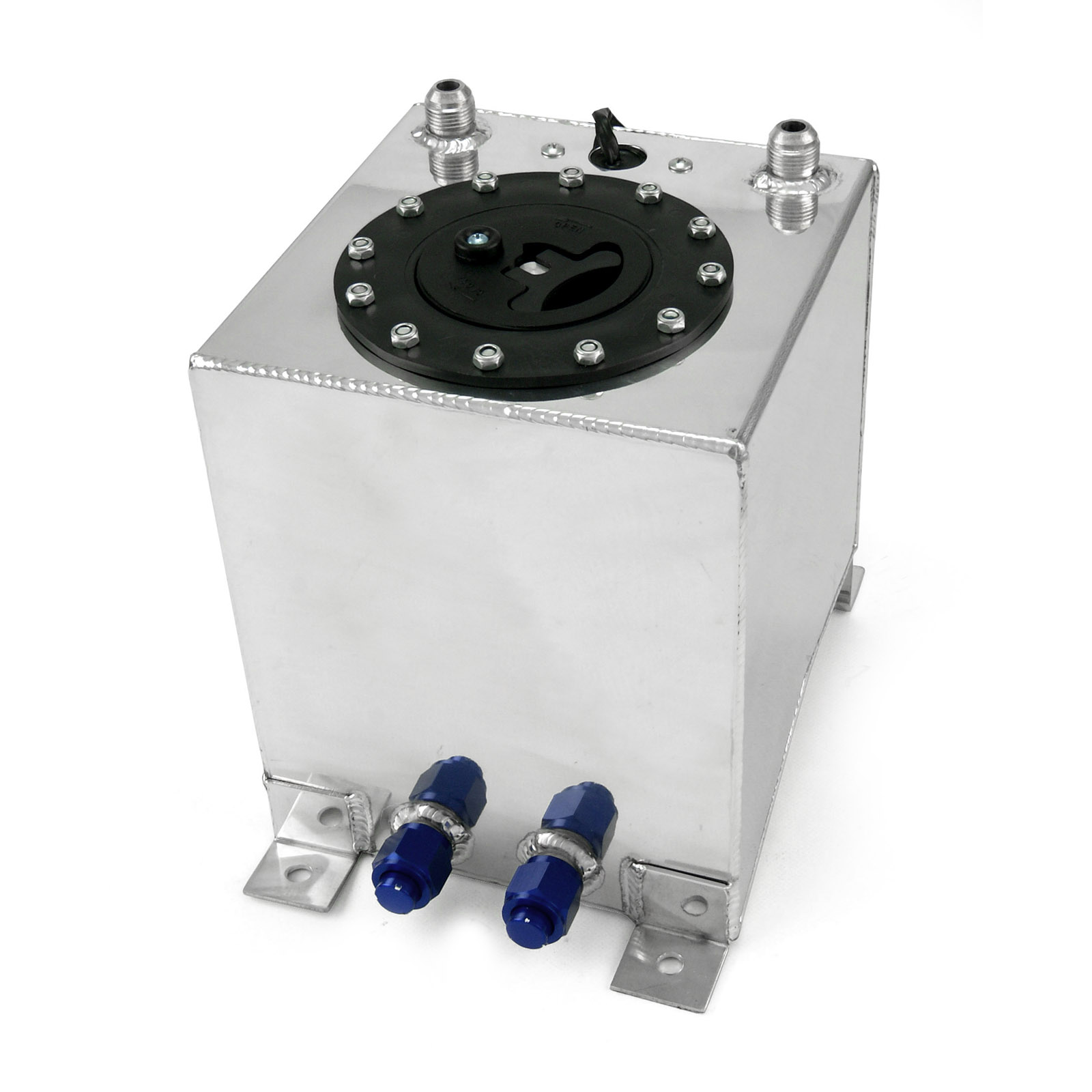 2.5 Gallon / 9.4 Litre Lightweight Polished Aluminum Fuel Cell w/ Sender