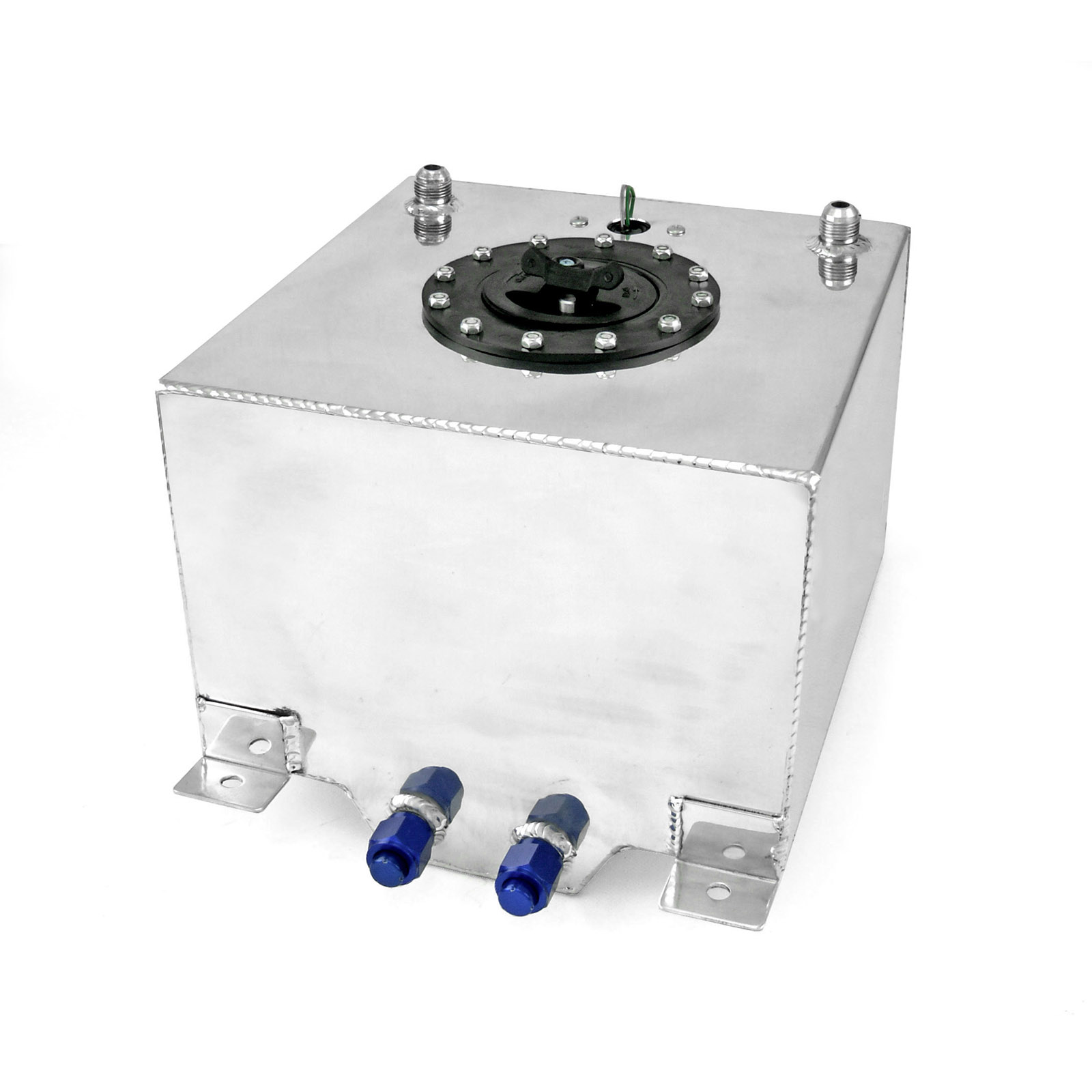 5 Gallon / 19 Litre Lightweight Polished Aluminum Fuel Cell w/ Sender