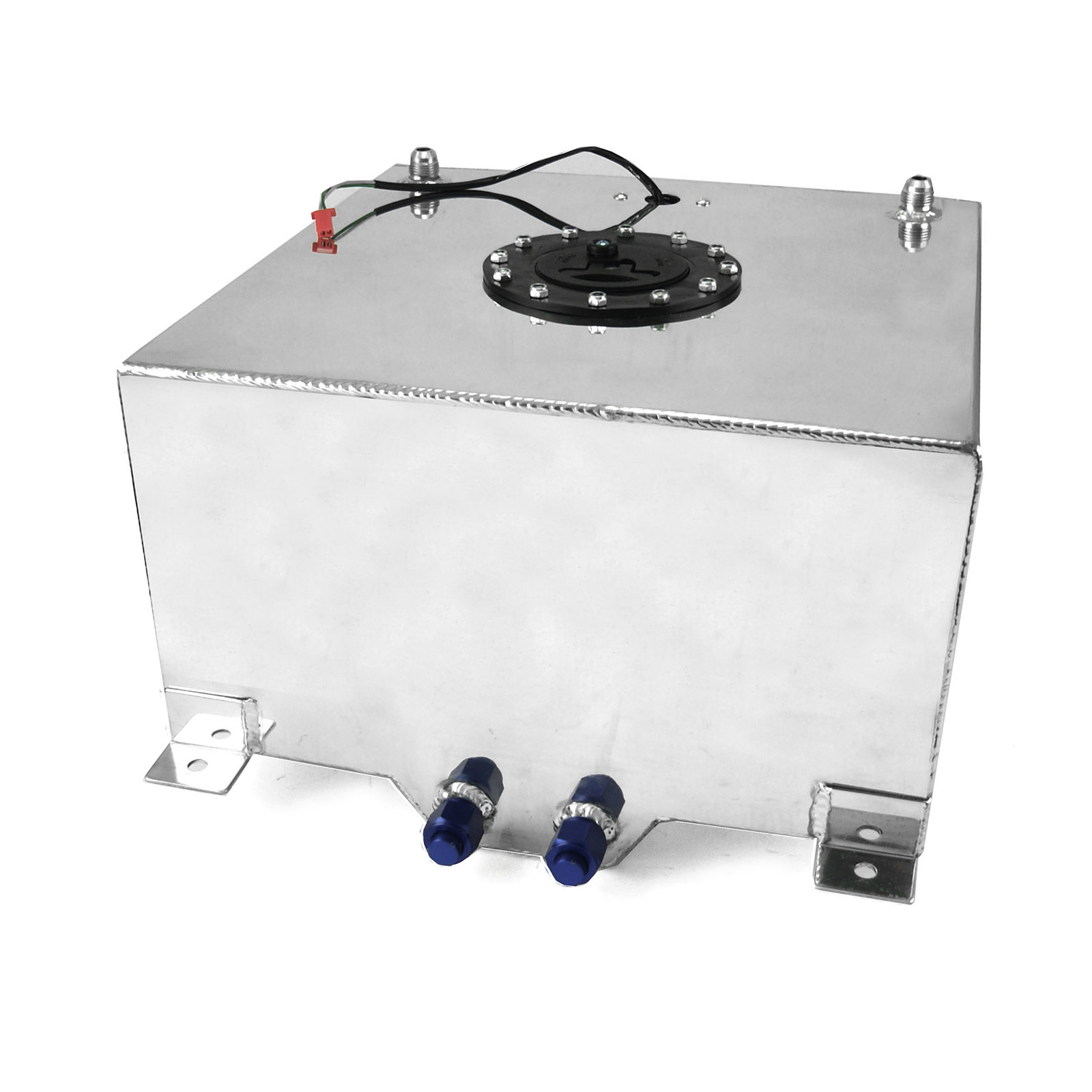 10 Gallon / 38 Litre Lightweight Polished Aluminum Fuel Cell w/ Sender