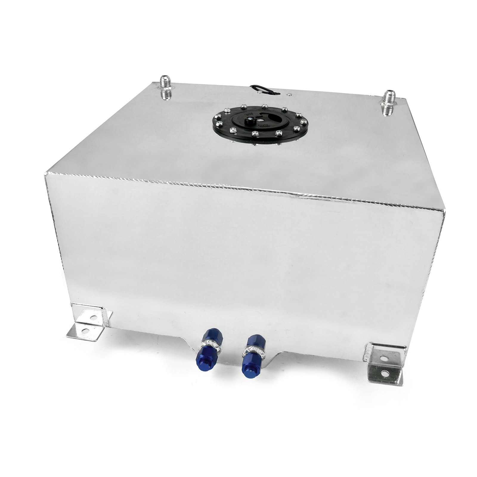 13 Gallon / 50 Litre Lightweight Polished Aluminum Fuel Cell w/ Sender