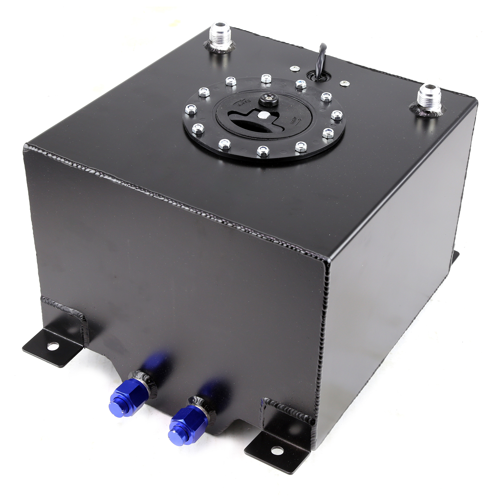 5 Gallon / 20 Litre Lightweight Black Aluminum Fuel Cell w/ Sender