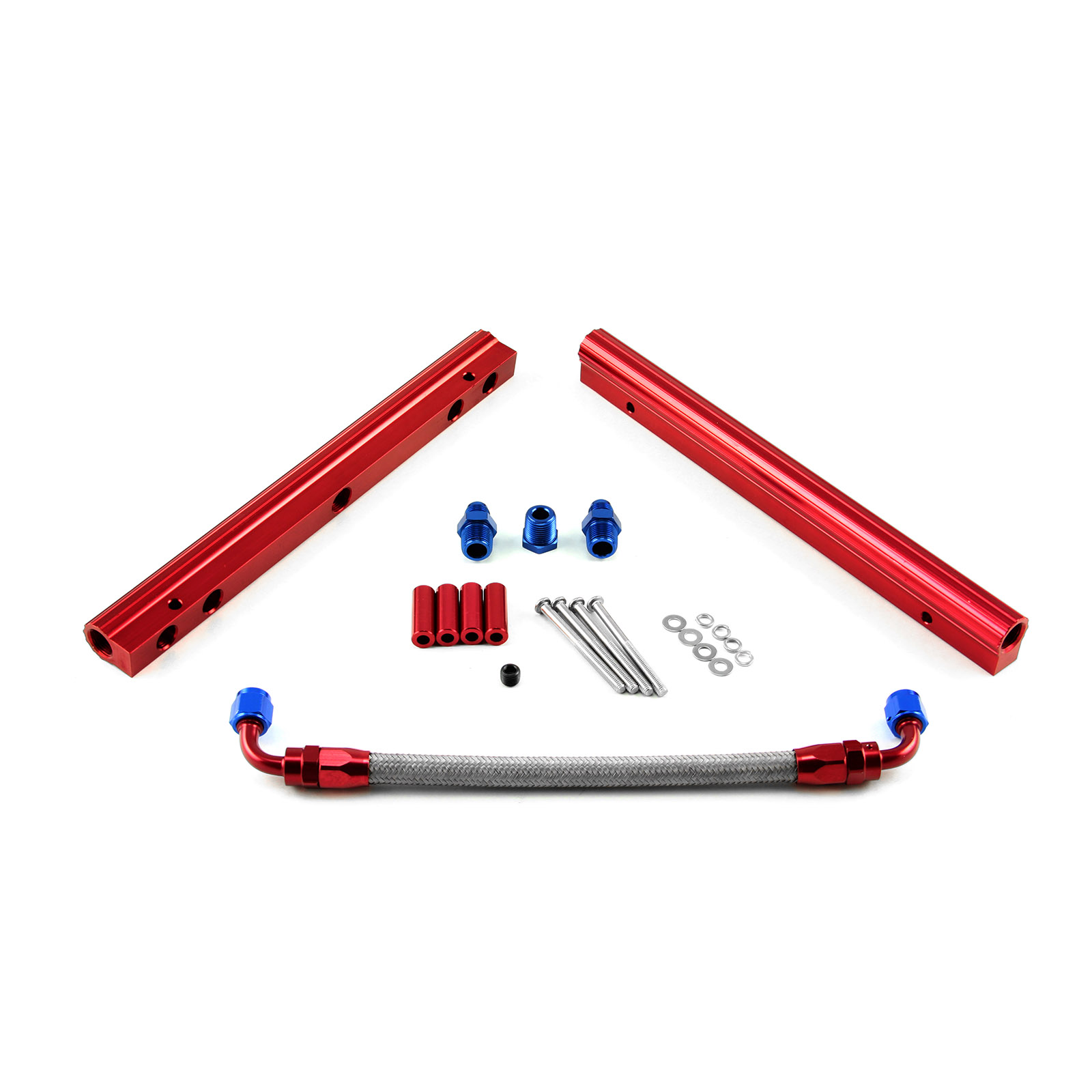 Chevy SBC 350 Billet Aluminum Fuel Injector Rail Kit