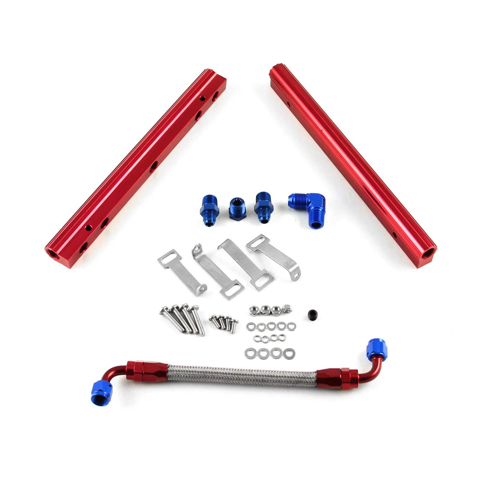 Chevy BBC 454 Billet Aluminum Fuel Injector Rail Kit