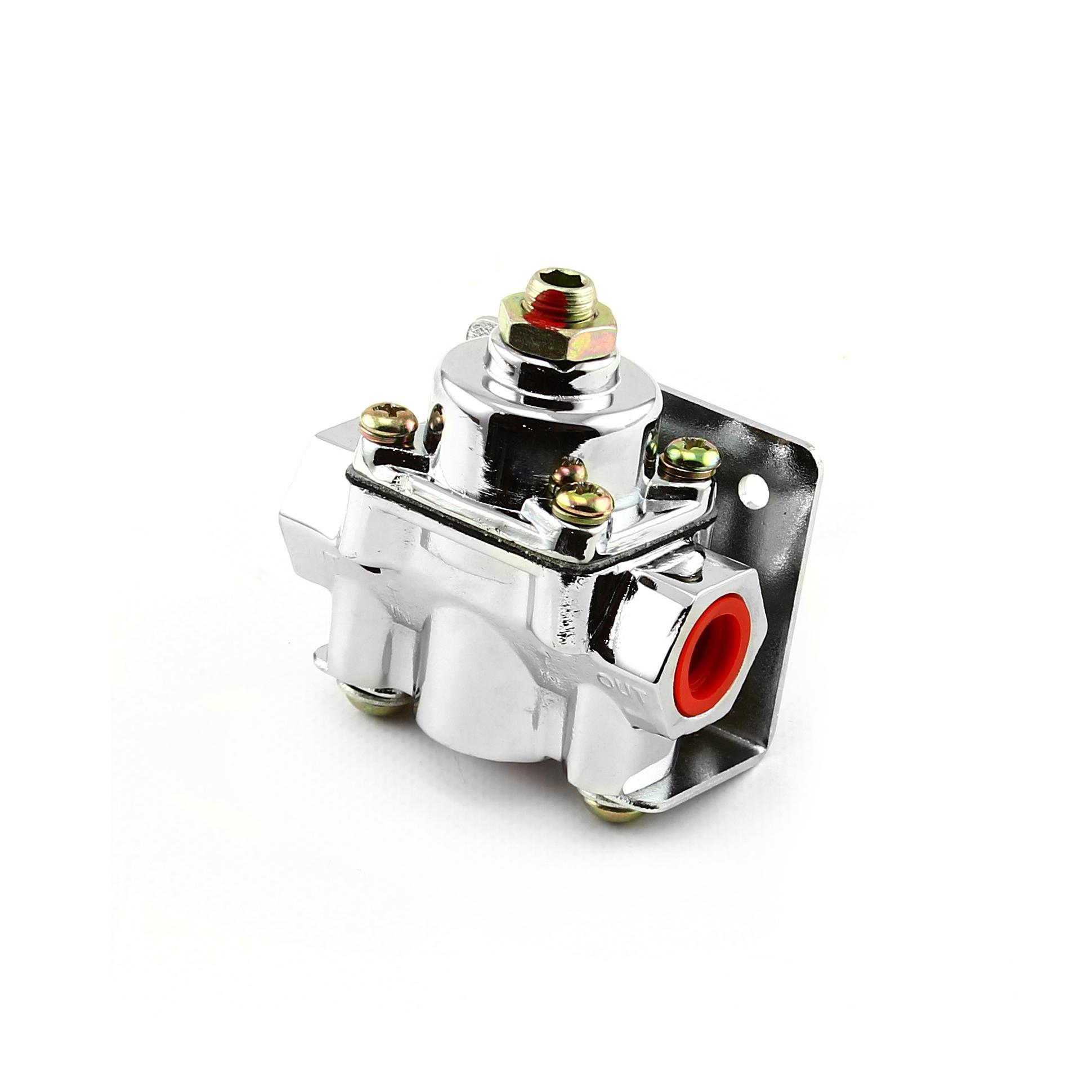4-9 psi Adjustable Universal Deadhead Fuel Pressure Regulator Chrome