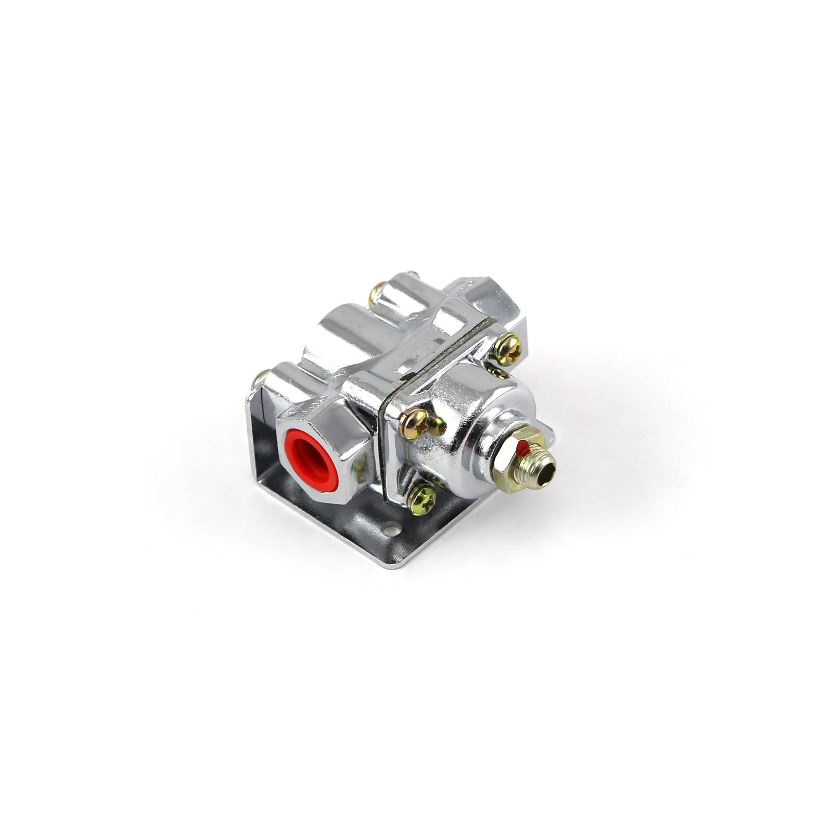 4-9 psi Adjustable Universal Deadhead Fuel Pressure Regulator Polished