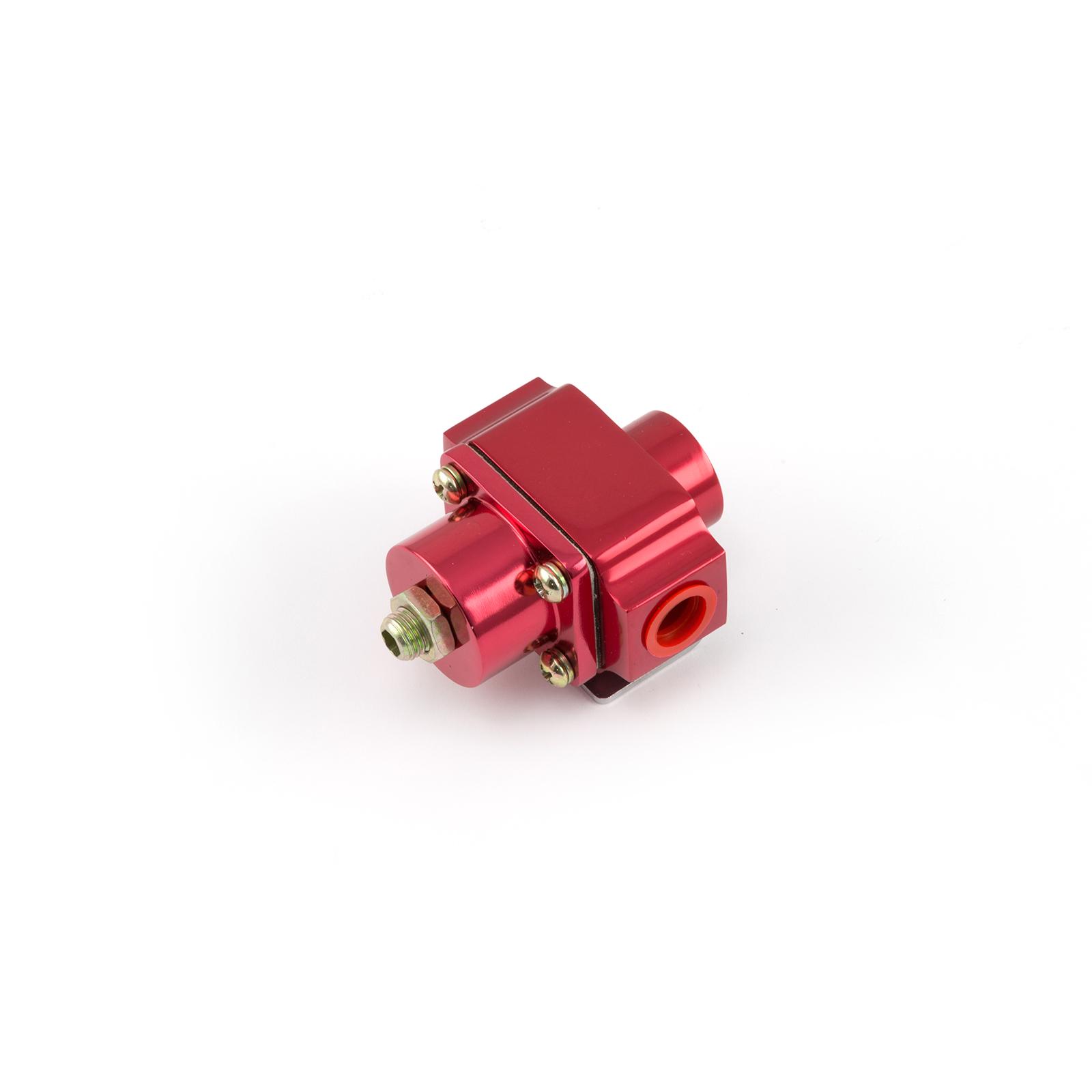 3-12 psi Adjustable Universal Deadhead Fuel Pressure Billet Regulator Red