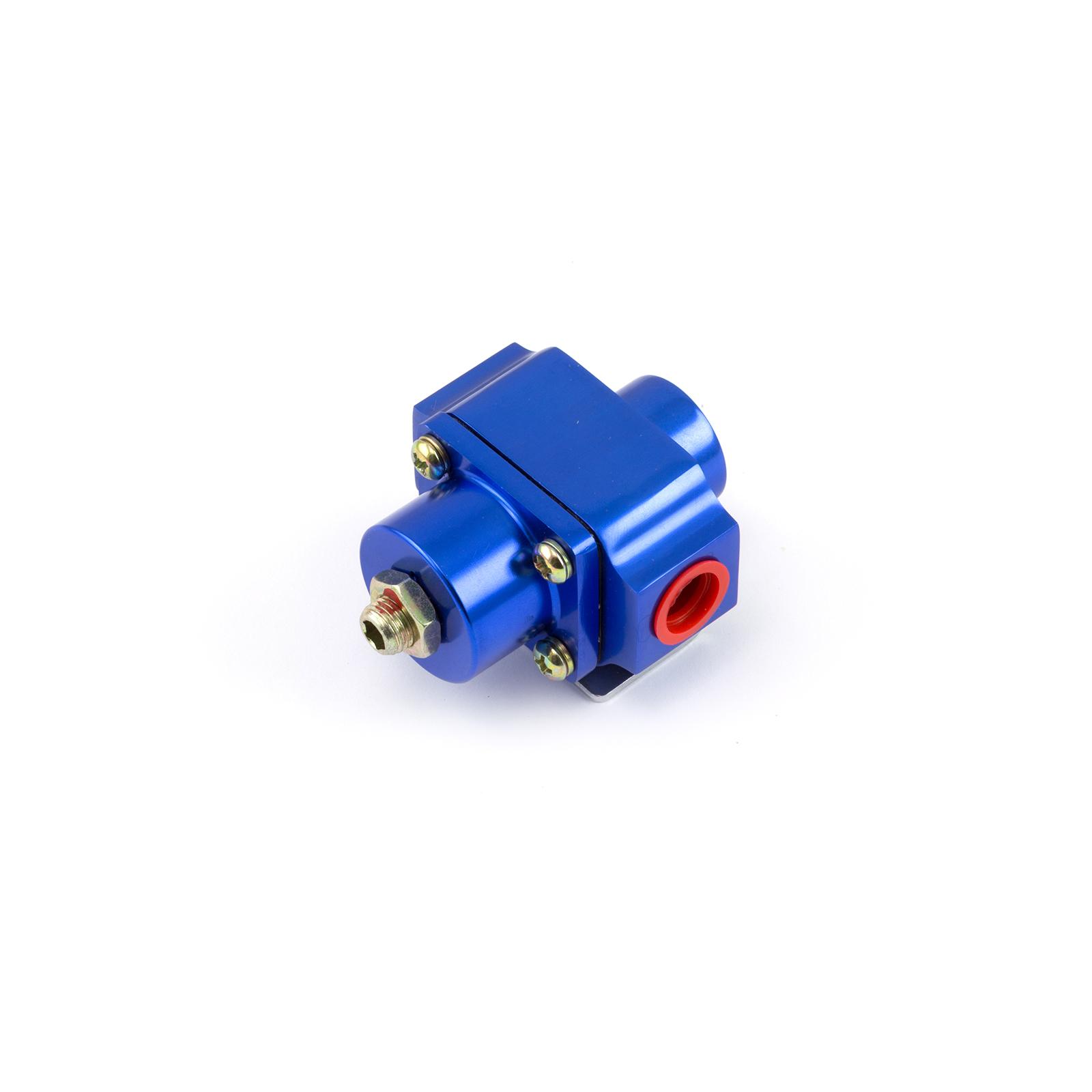 3-12 psi Adjustable Universal Deadhead Fuel Pressure Billet Regulator Blue