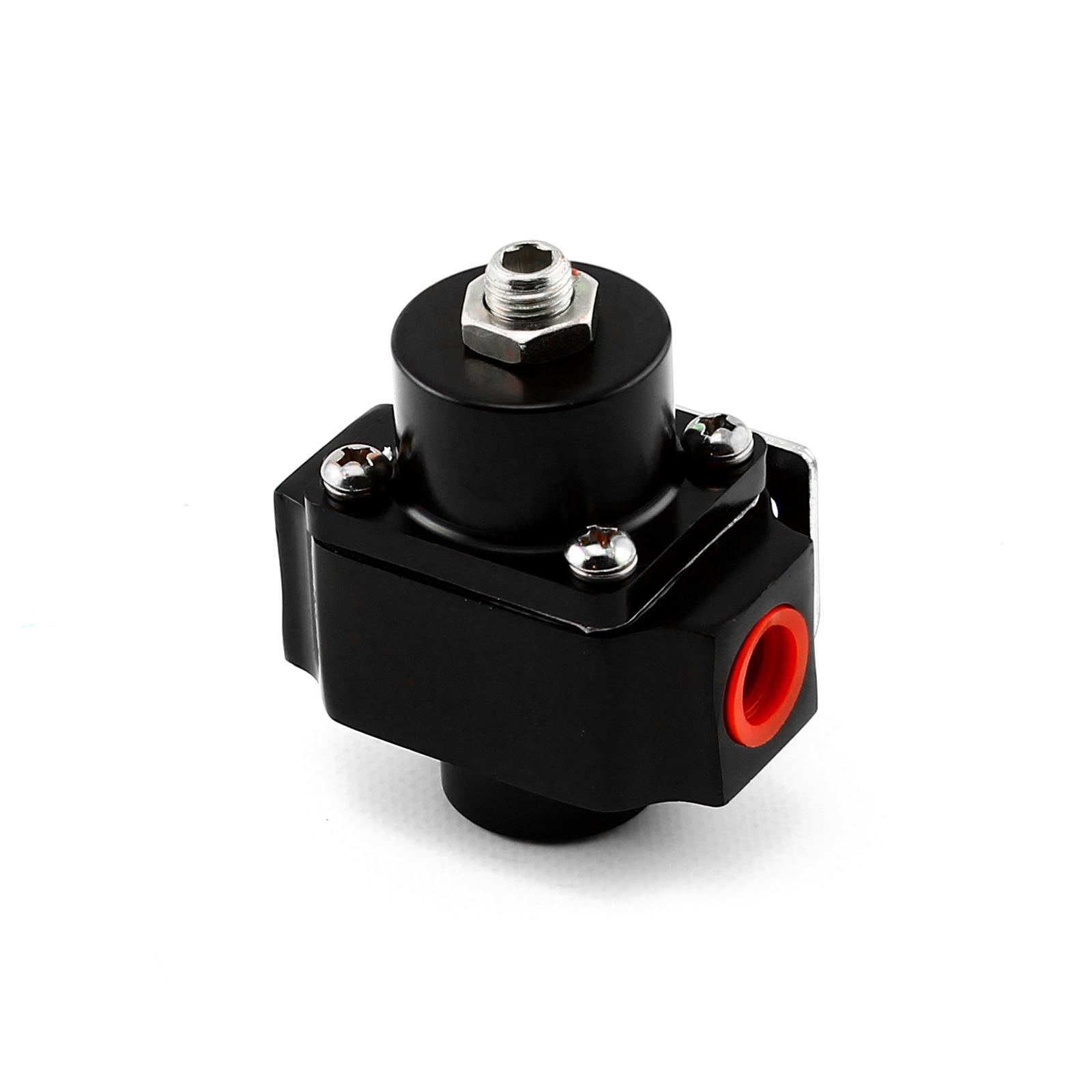 3-12 psi Adjustable Universal Deadhead Fuel Pressure Billet Regulator Black