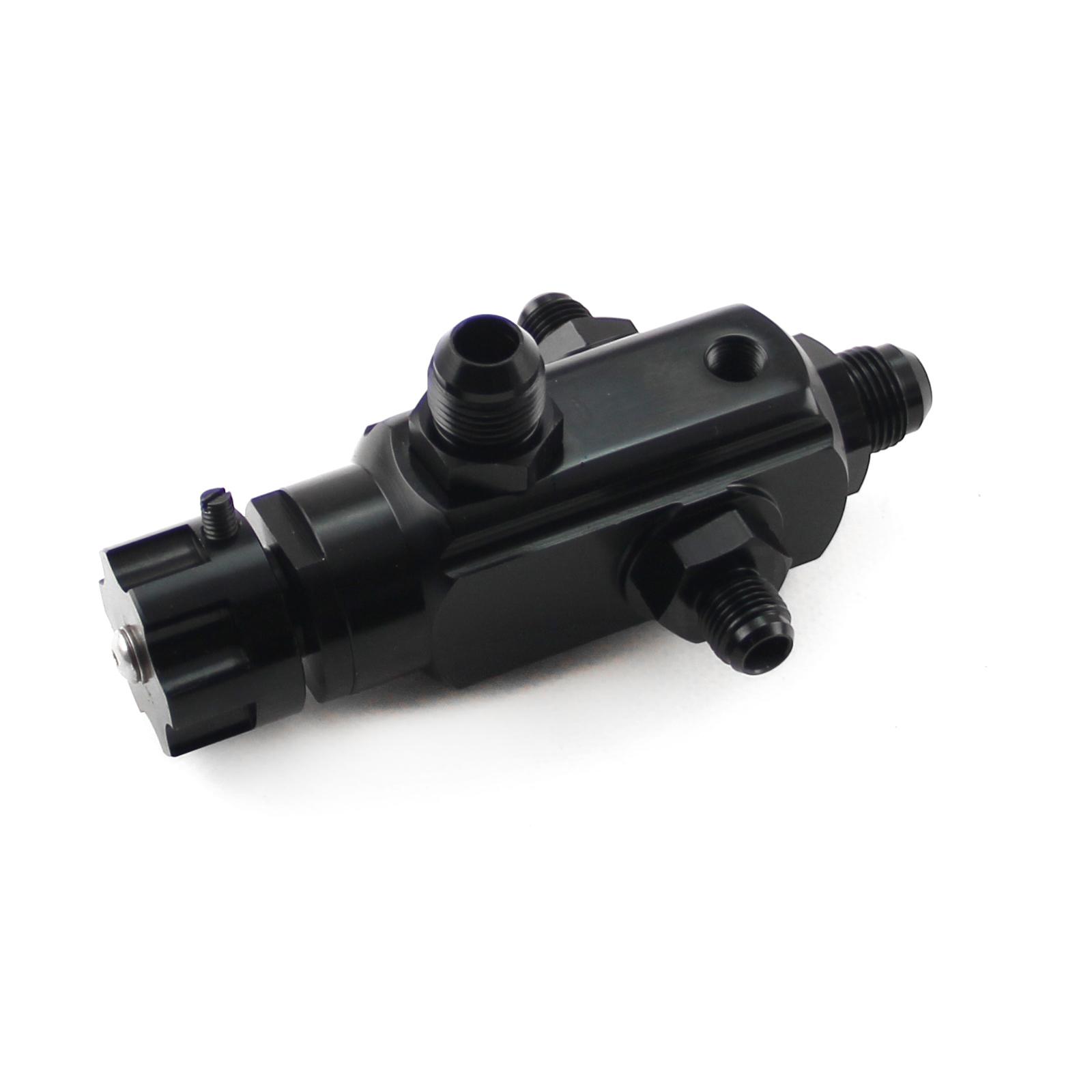 2 Port Universal Billet Return Style Adjustable Fuel Pressure Regulator Black