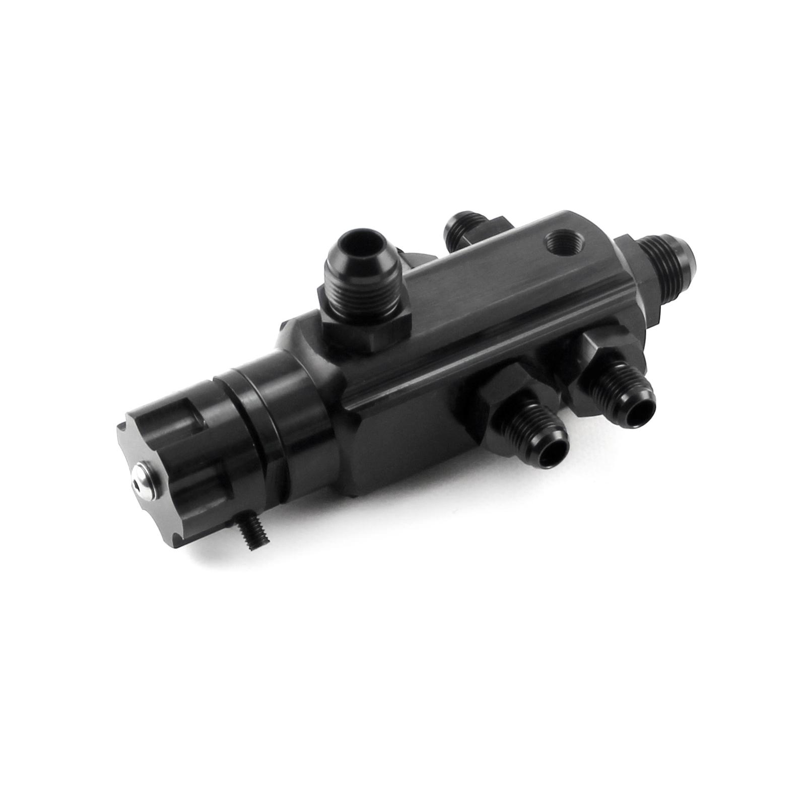4 Port Universal Billet Return Style Adjustable Fuel Pressure Regulator 2-40psi