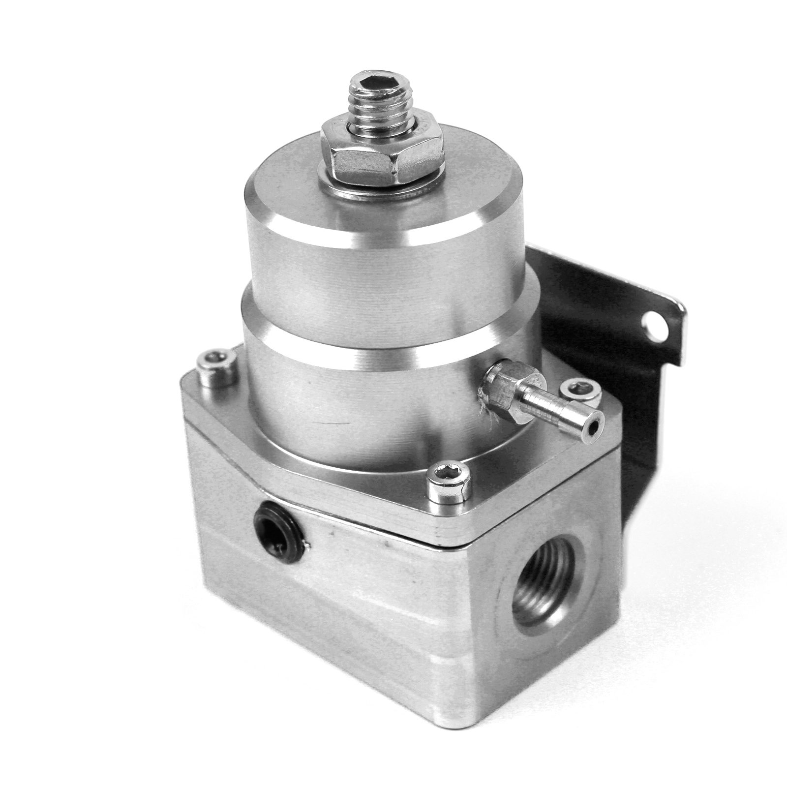 Universal - 6 AN EFI Fuel Pressure Regulator Silver