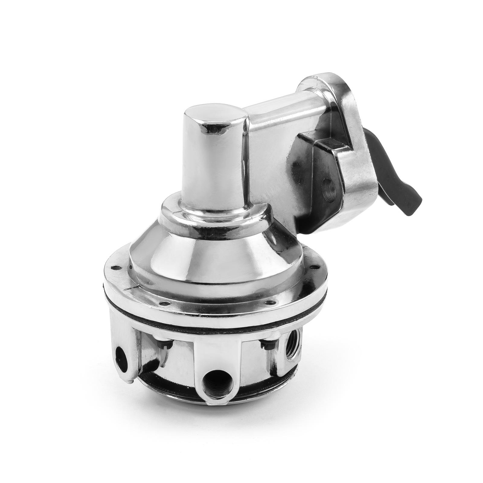 "Chevy BBC 454 High Volume Mechanical Fuel Pump Chrome 3/8"" NPT Fitting"