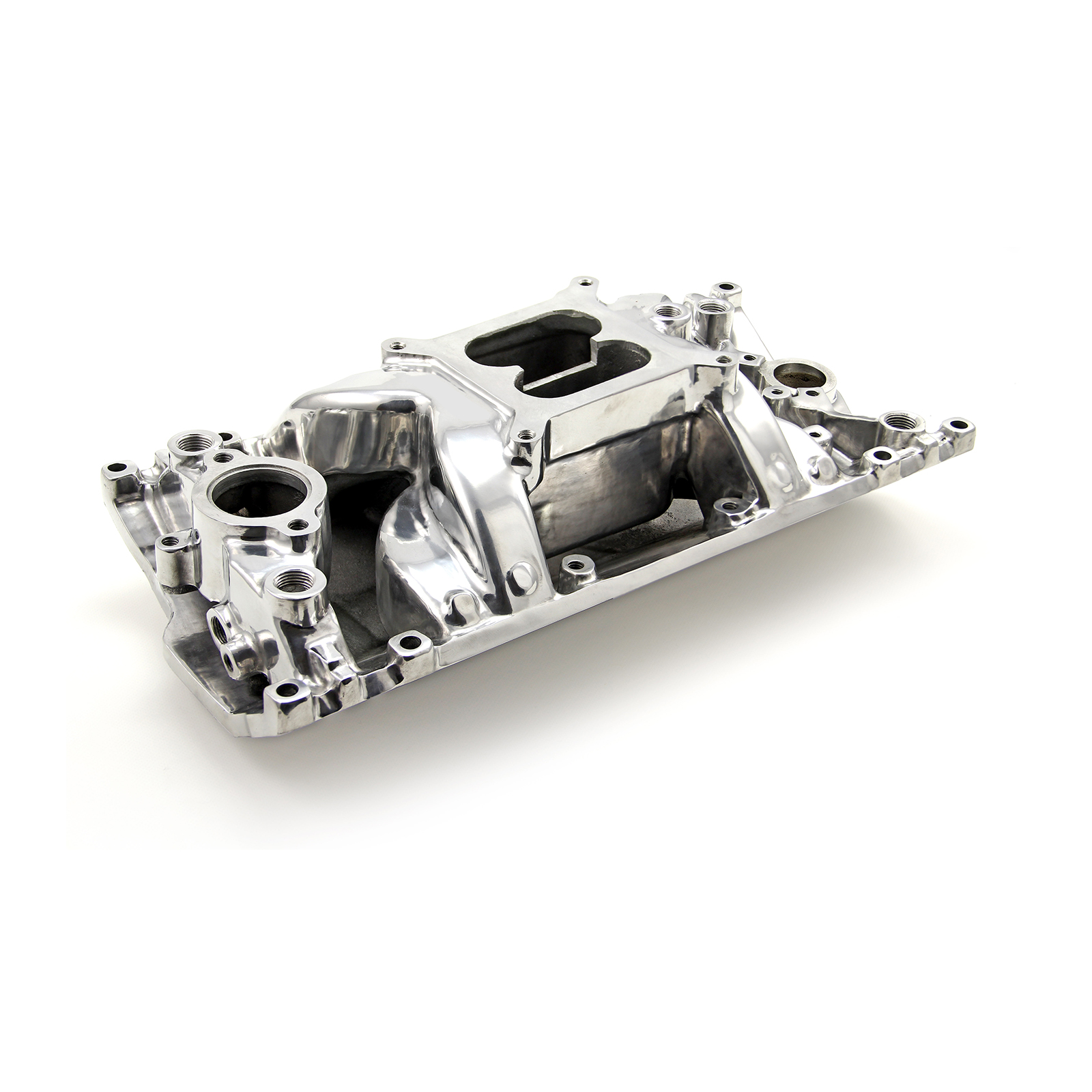 Chevy SBC 350 Eliminator Vortec Intake Manifold Polished