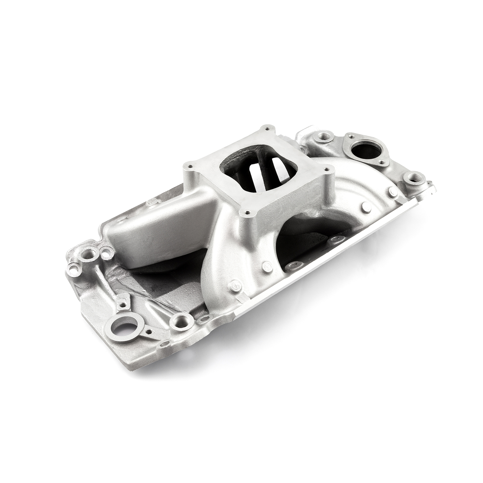Chevy BBC 454 Shootout Rect Port High Rise Intake Manifold Satin