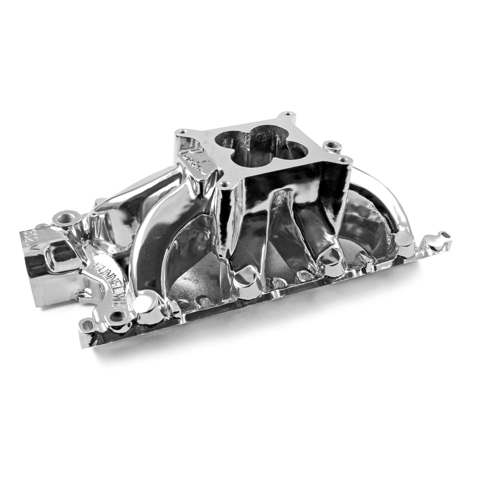 Ford SB 260 289 302 Windsor Parker Style High Rise Intake Manifold Polished