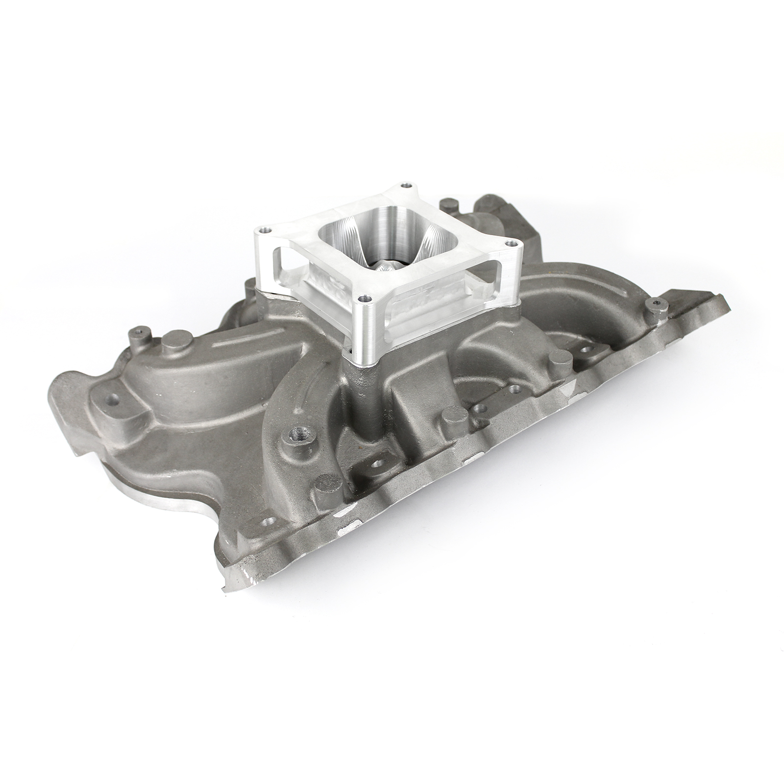 """Ford 302 351C Cleveland (4V With Tongues) Torque Intake Manifold w/2"""" Spacer"""