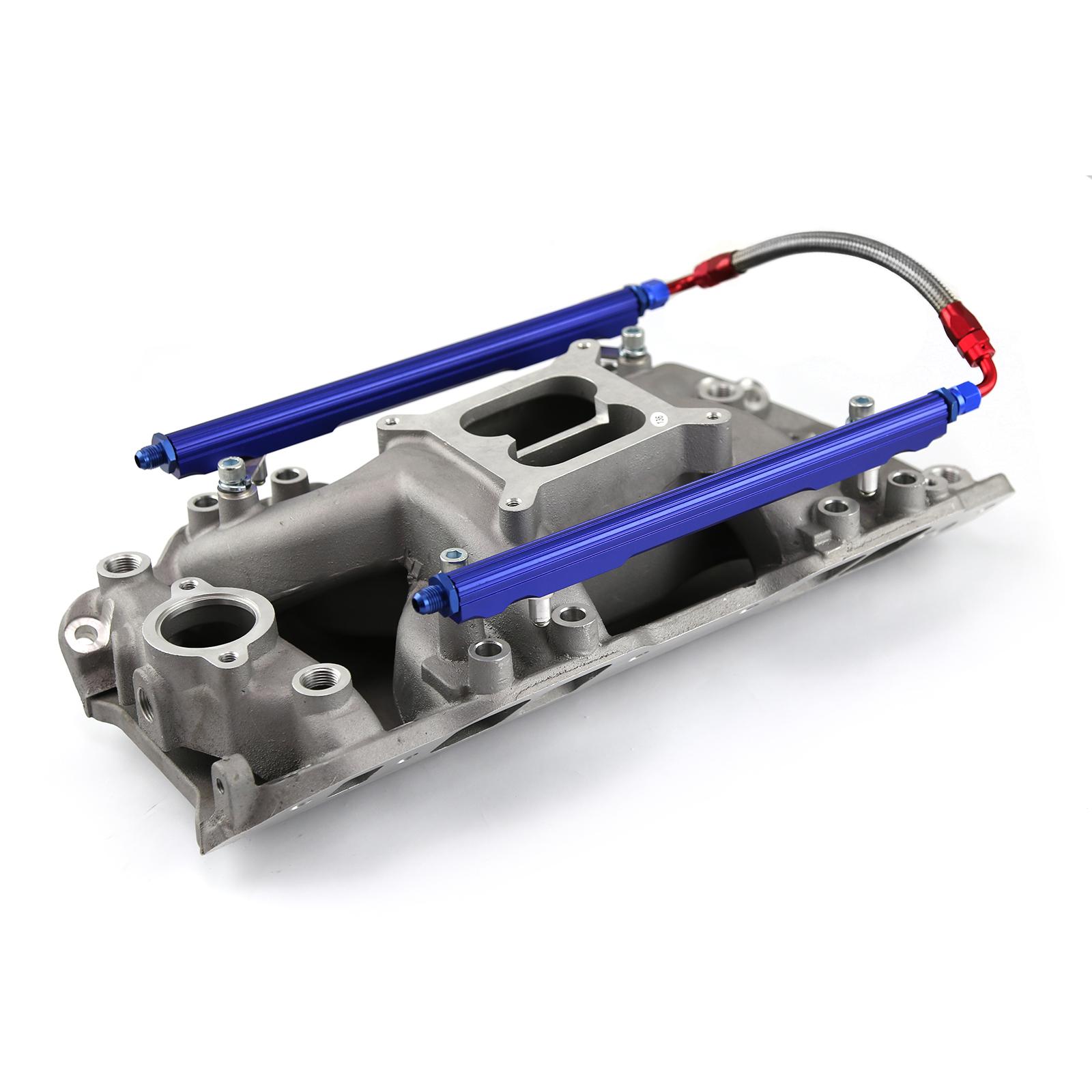 Chevy BBC 454 Rect Port Eliminator w/Inj Ports & Fuel Rails Intake Manifold