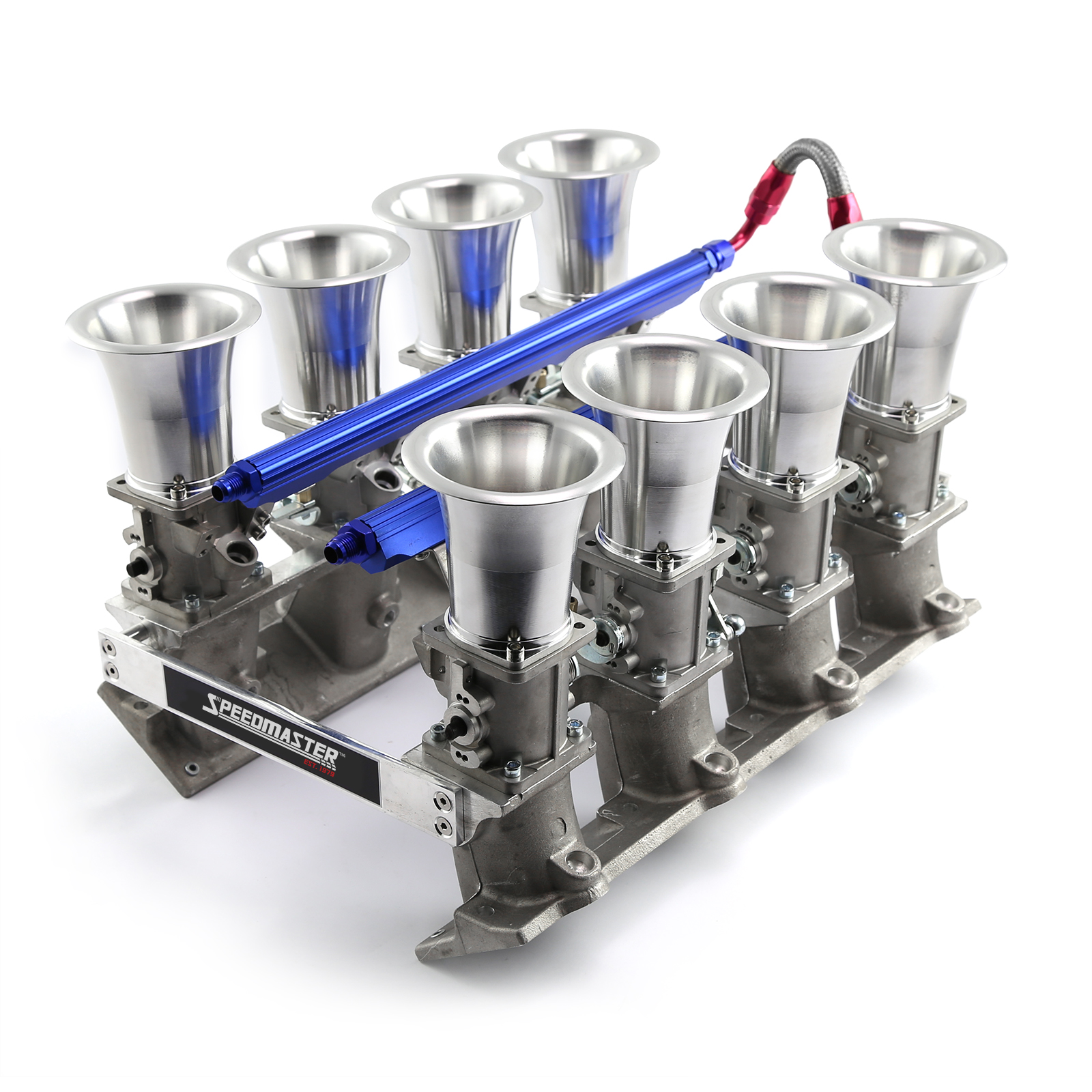 Chevy GM LS1 Downdraft EFI Stack Intake Manifold System Complete Satin