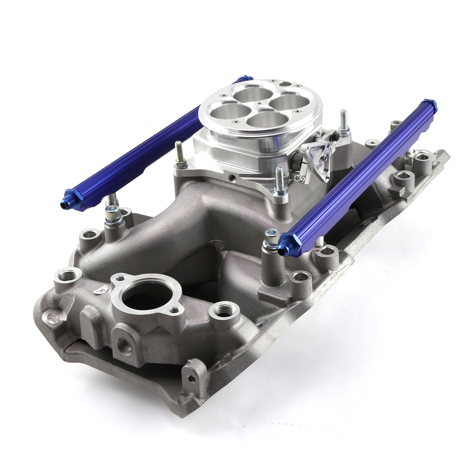 Chevy BBC 454 Rect Port Eliminator Fuel Inj Kit EFI with 1200 CFM Throttle Body