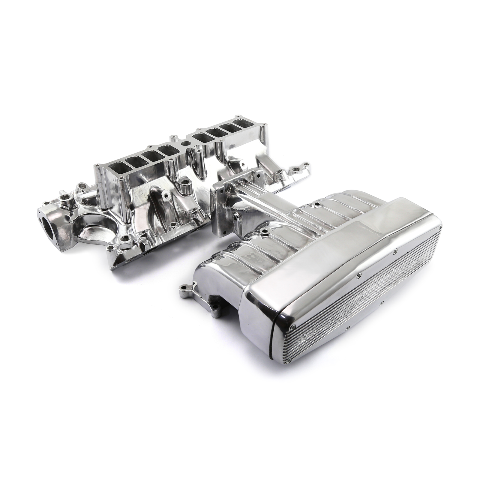 Ford 5 8L 351w EFI 1986-93 Qualifier Upper and Lower Intake Manifold Kit  Polished