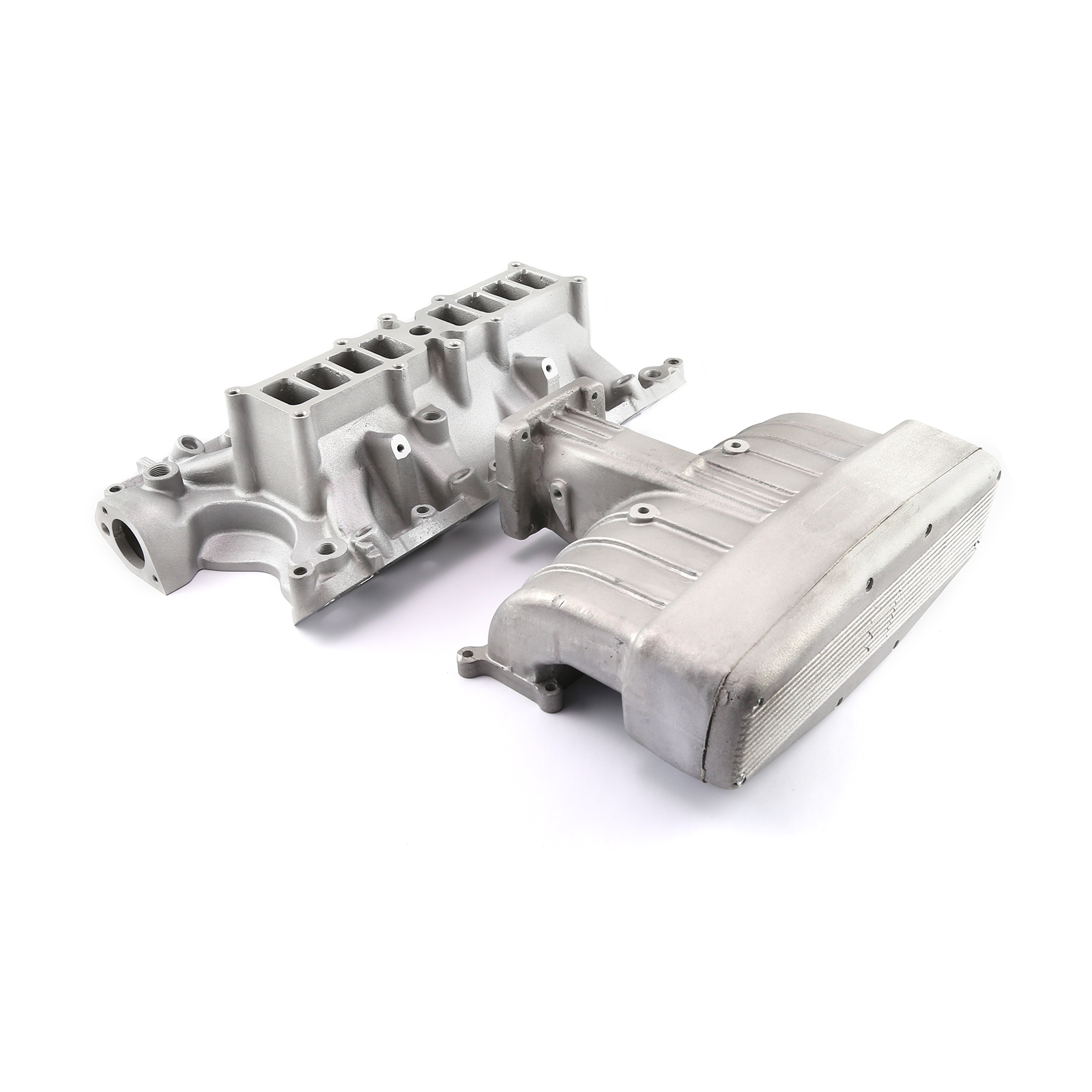 Ford 5.8L 351w EFI 1986-93 Qualifier Upper and Lower Intake Manifold Kit Satin