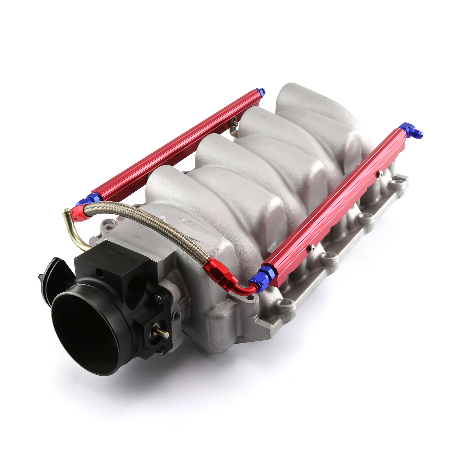 Chevy LS2 Satin Aluminum Intake Manifold with 90mm Throttle Body