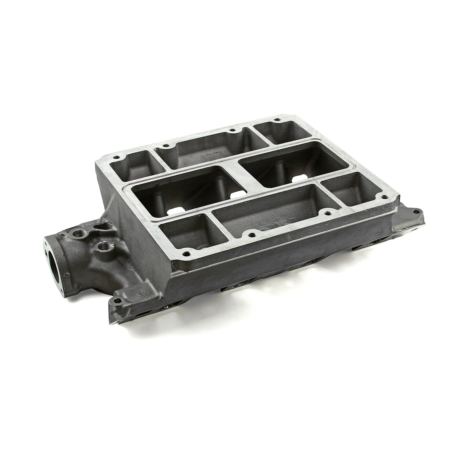 Ford SB 289 302 Windsor 6-71 8-71 Supercharger Aluminum Intake Manifold Satin
