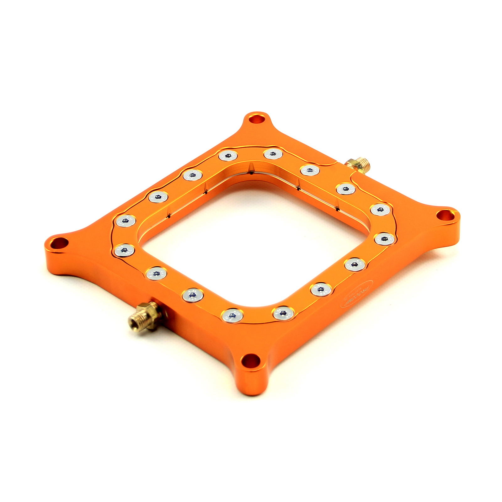 Nitrous Oxide 0.500 Yellow Billet Square Bore Perimeter Injection Spacer Plate