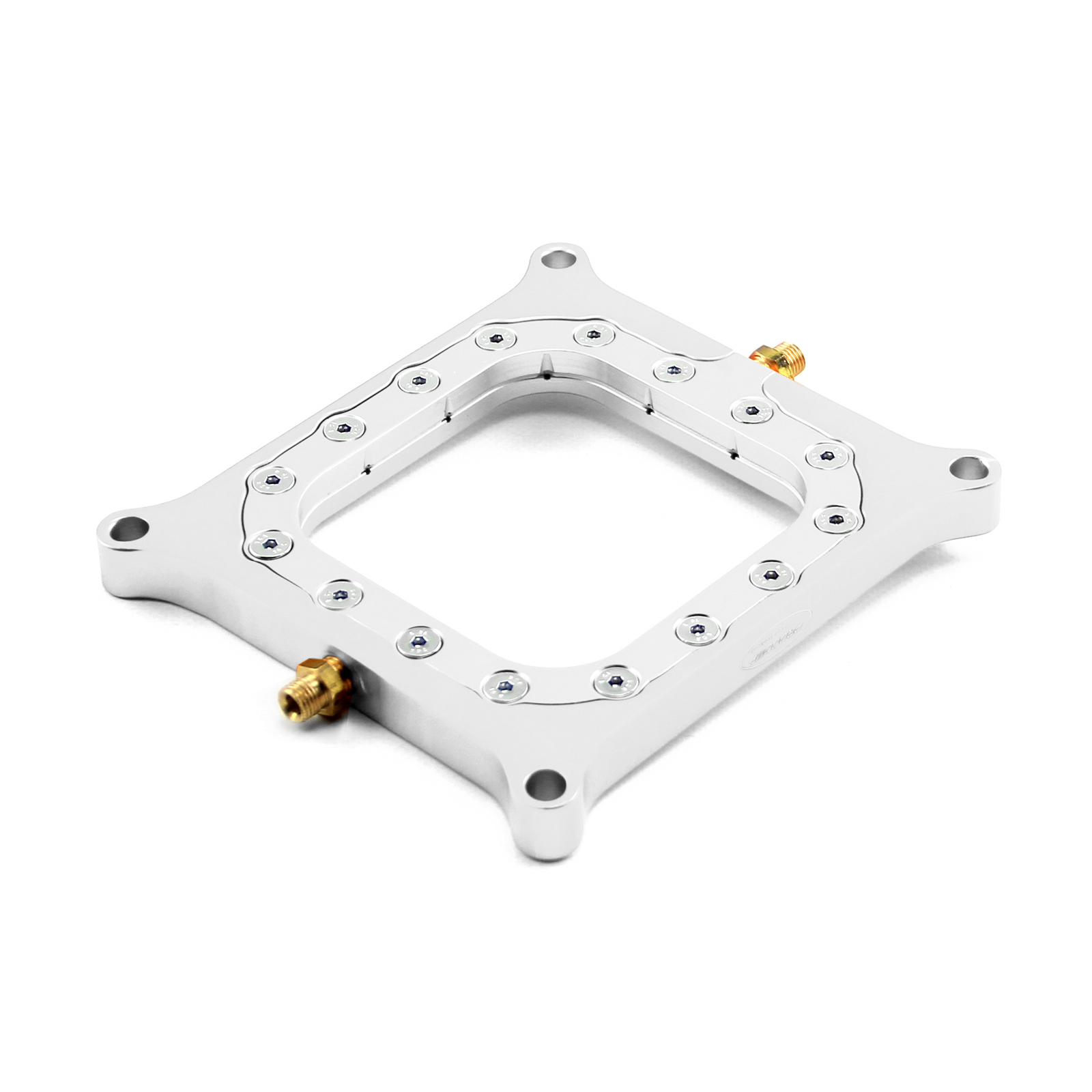 Nitrous Oxide 0.500 Polished Billet Square Bore Perimeter Injection Spacer Plate
