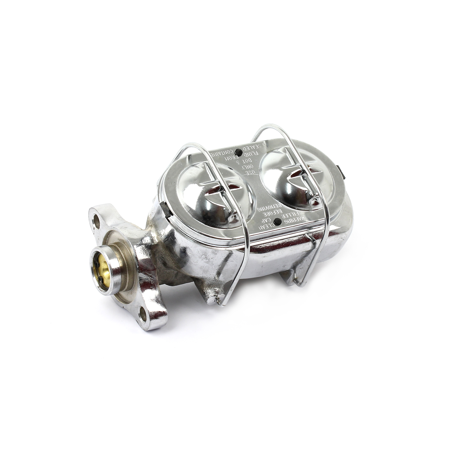 Universal Gm Clip On Top Steel Brake Master Cylinder Chrome